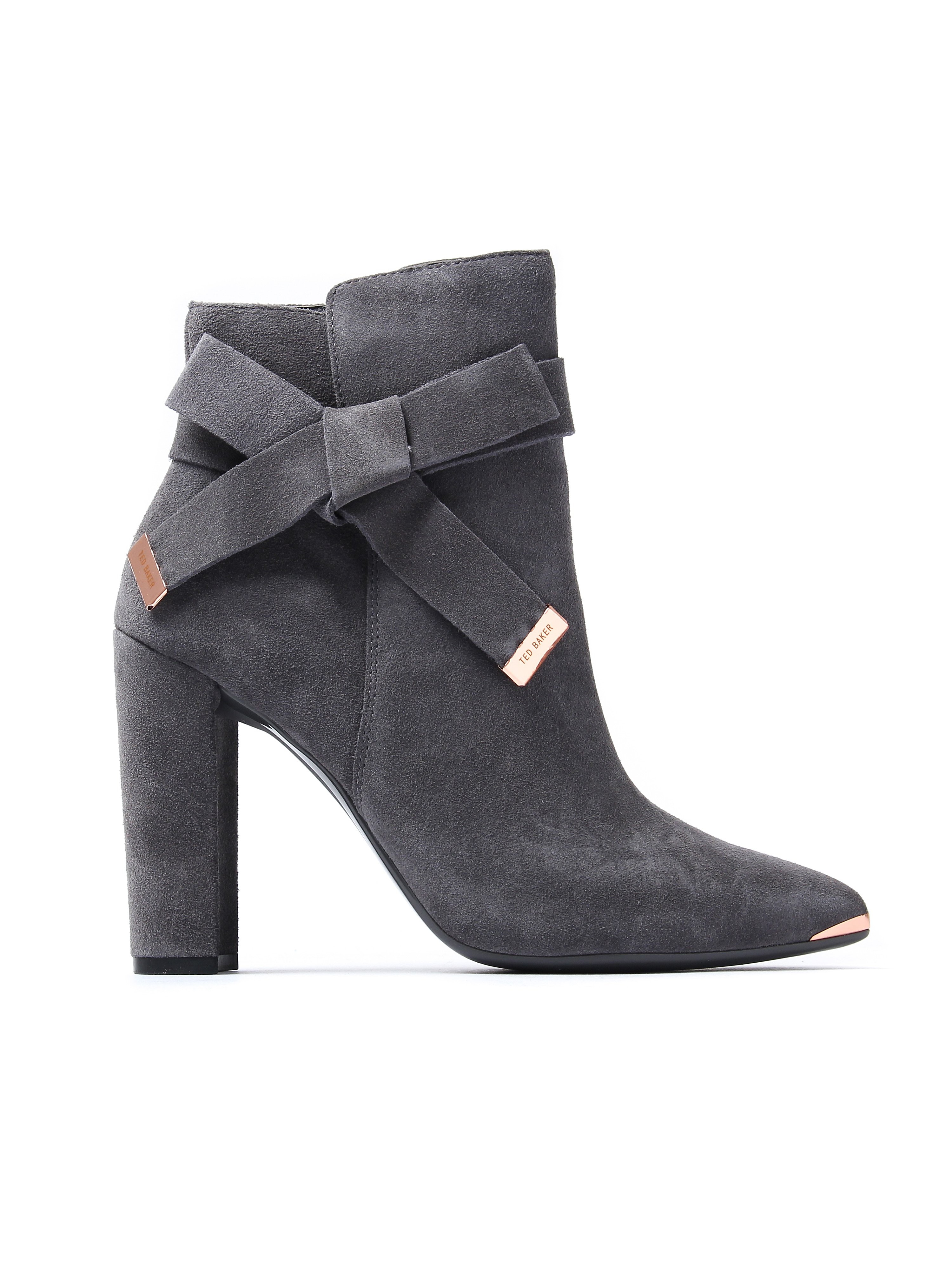 Ted Baker Women's Sailly Ankle Boots - Dark Grey Suede