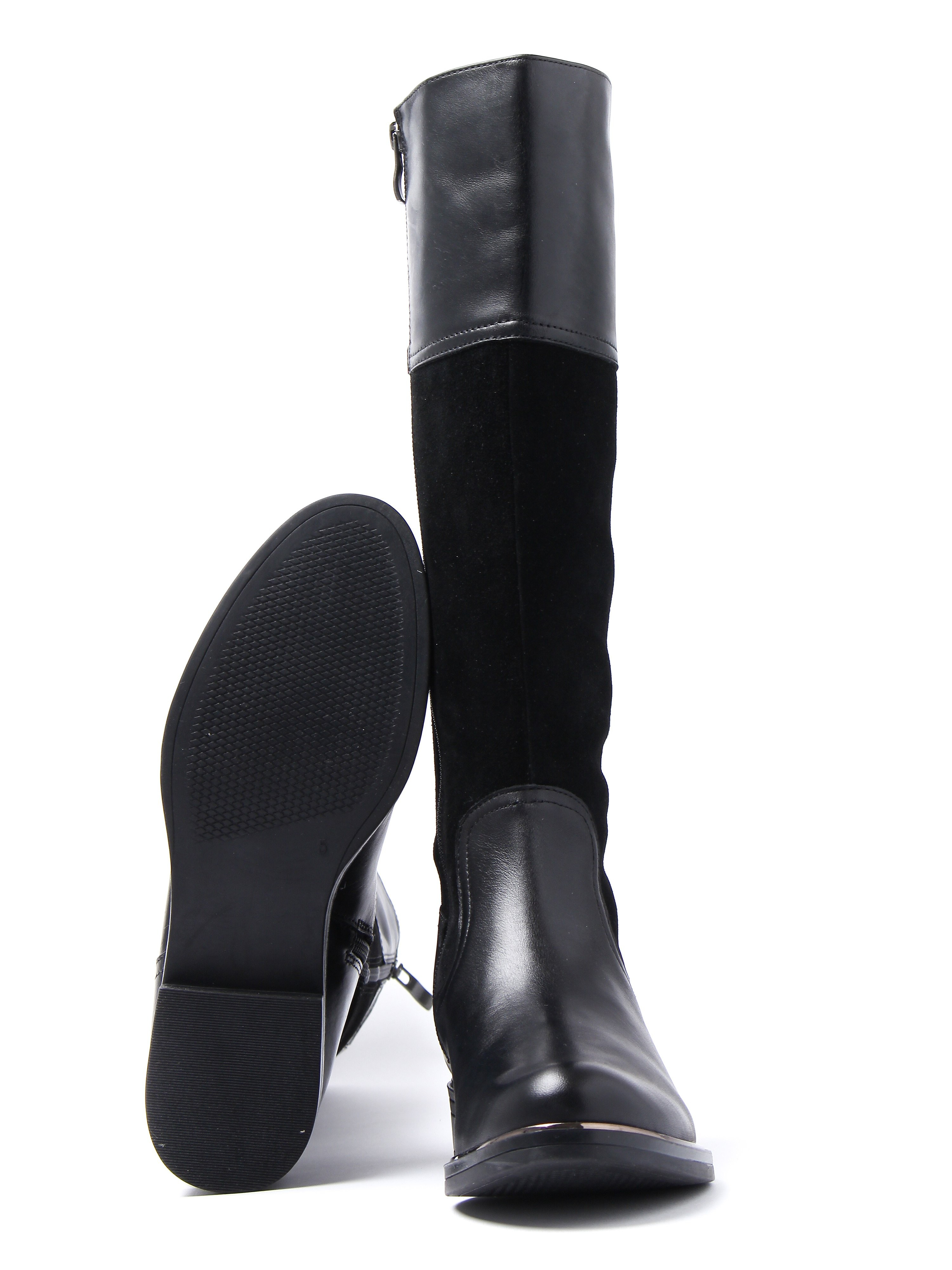 Caprice Women's Tall Combi Boots - Black Suede