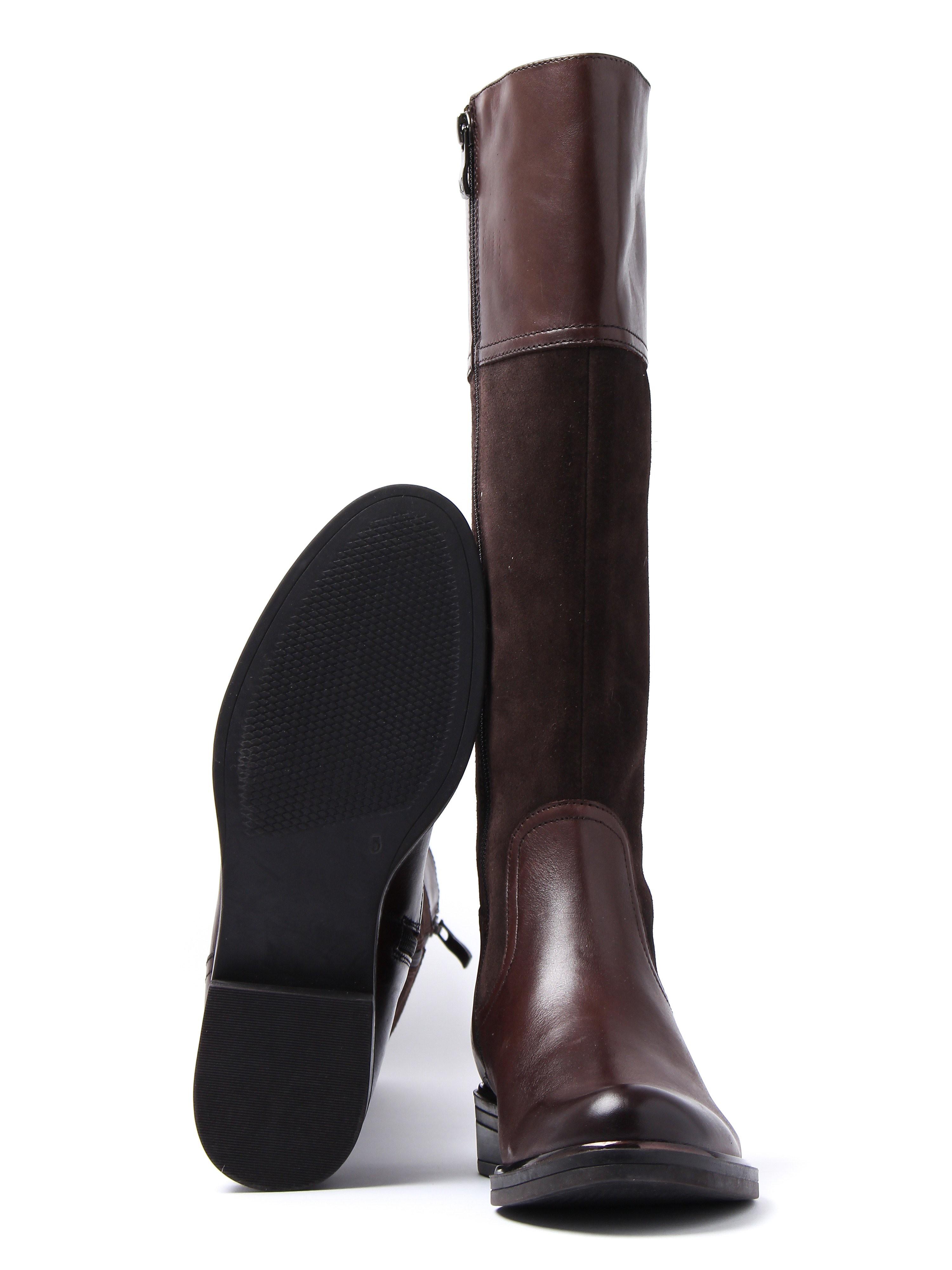 Caprice Women's Tall Combi Boots - Dark Brown Suede