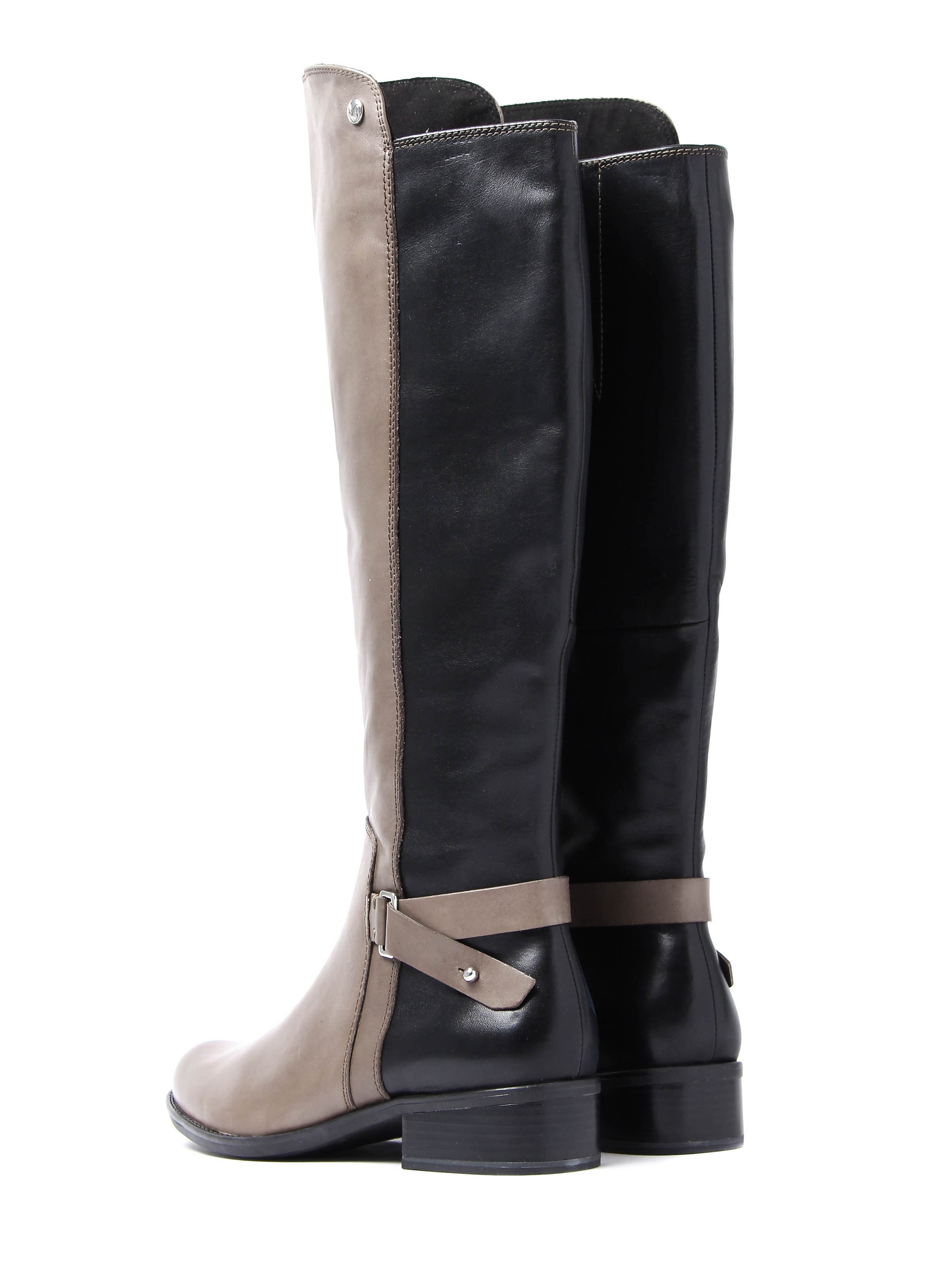 Caprice Women's Tall Combi Boots - Taupe Leather