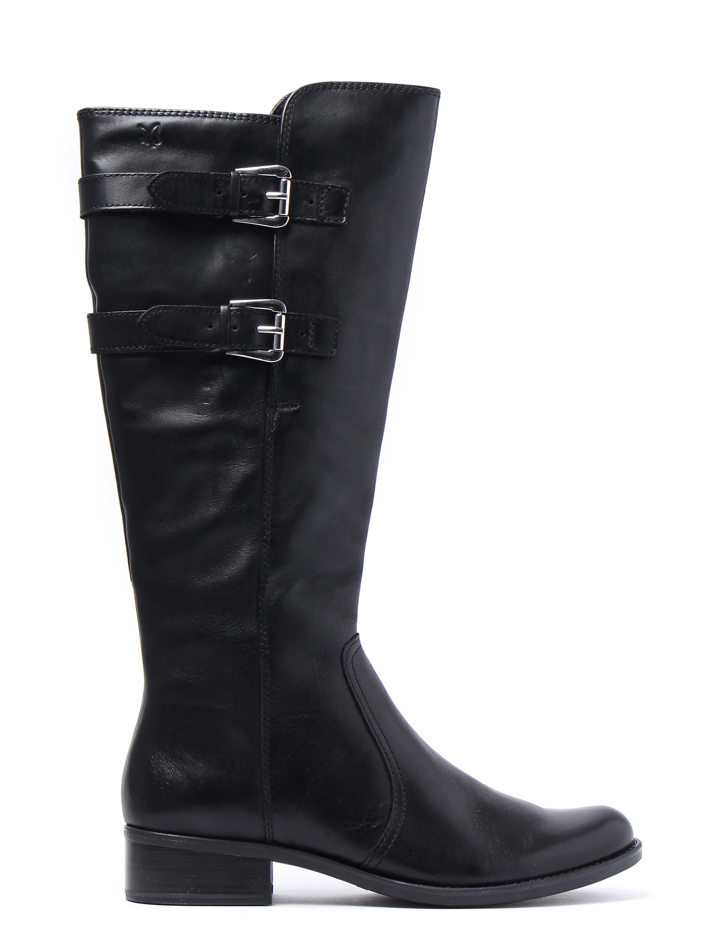 Caprice Women's Nappa Tall Buckle Boots - Black Leather
