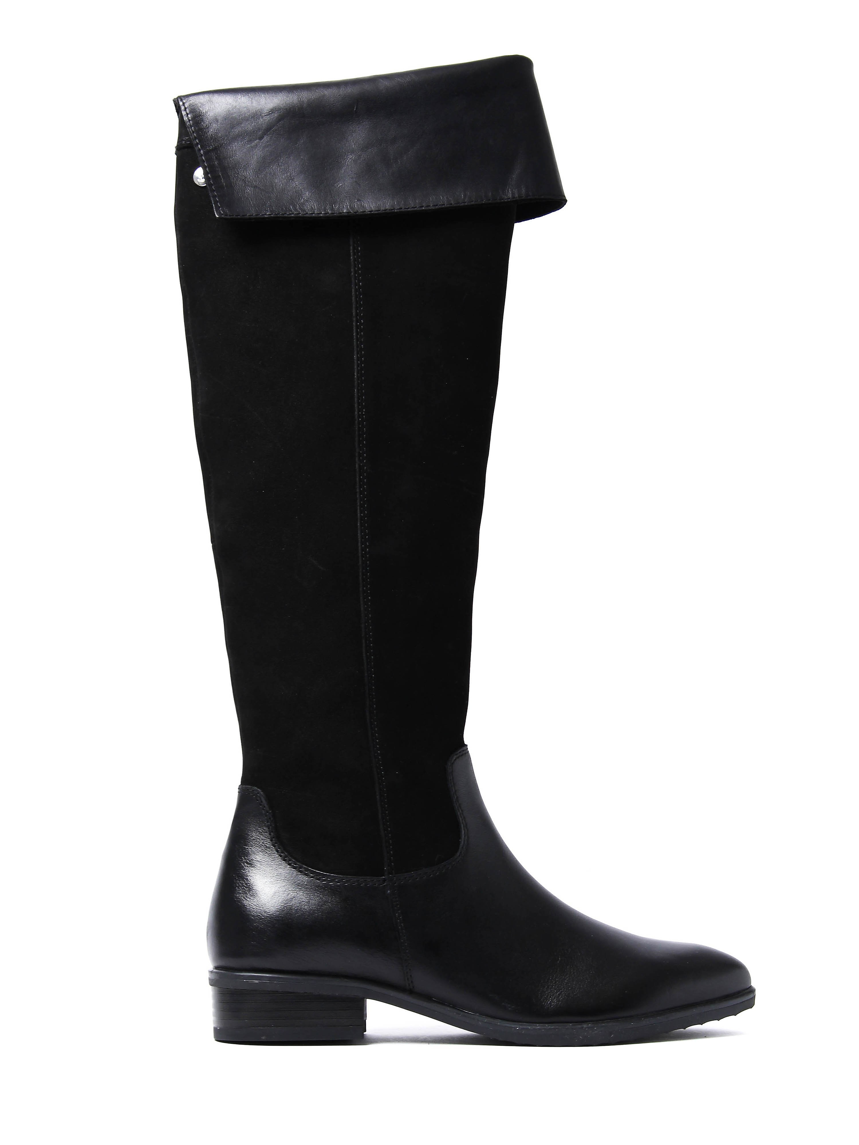 Caprice Women's Over The Knee Tall Boots - Black Suede