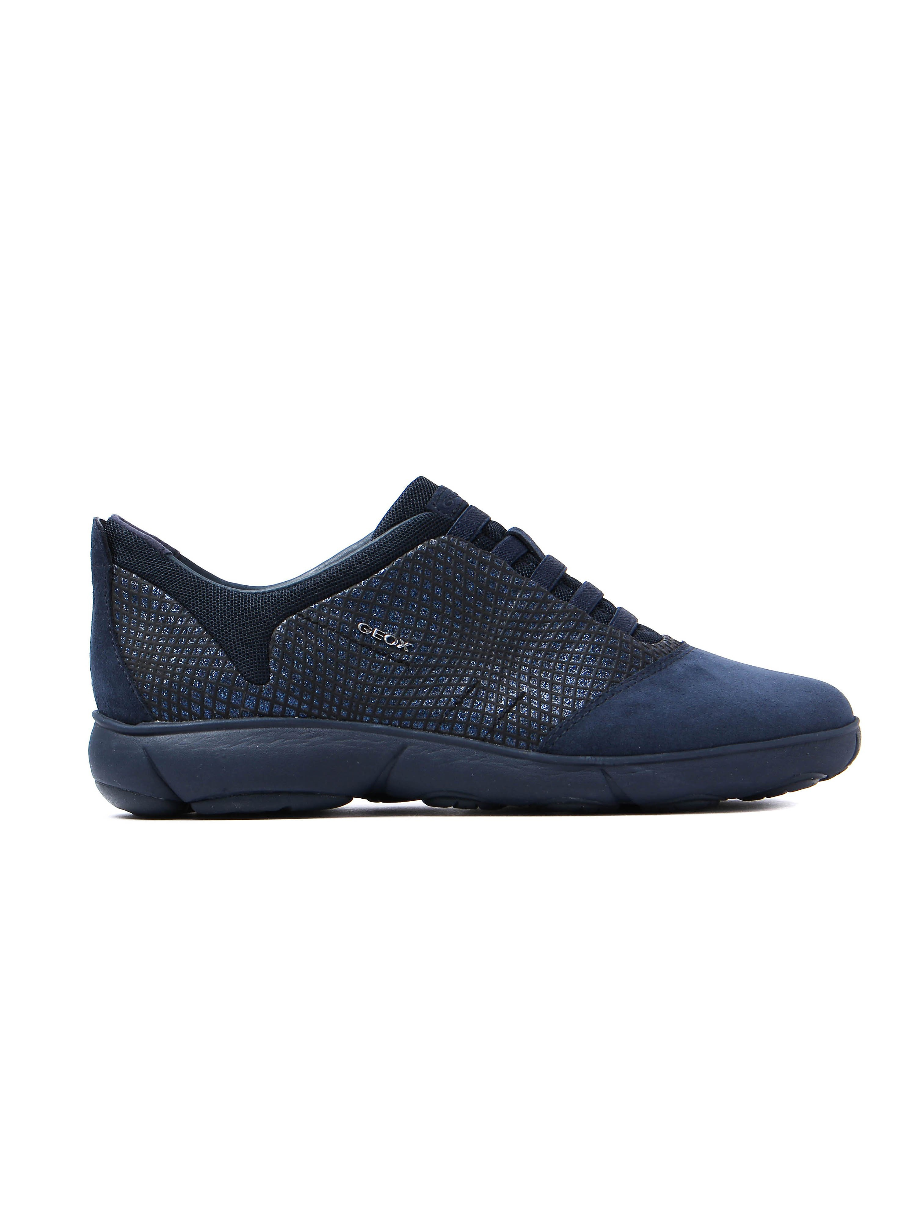 Geox Women's Nebula Textile Slip On Trainers - Navy