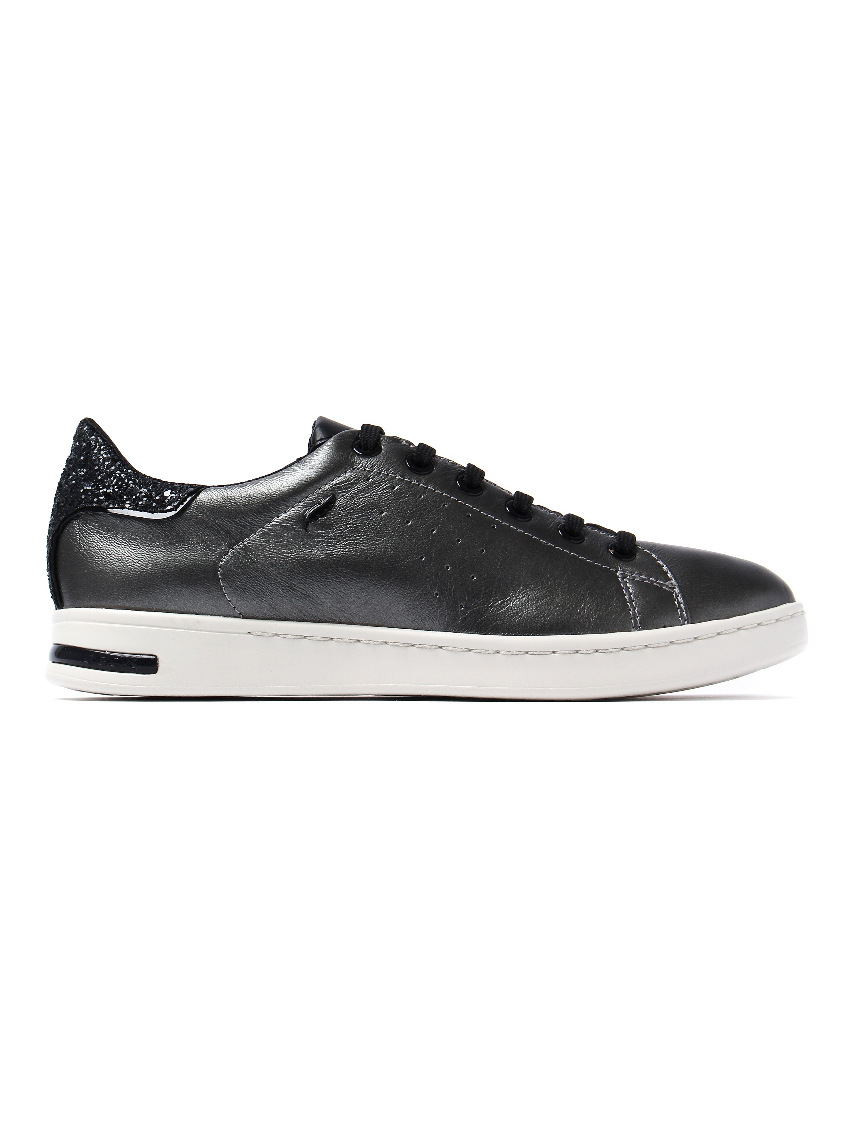 Geox Women's Jaysen Low Top Trainers - Dark Grey Leather
