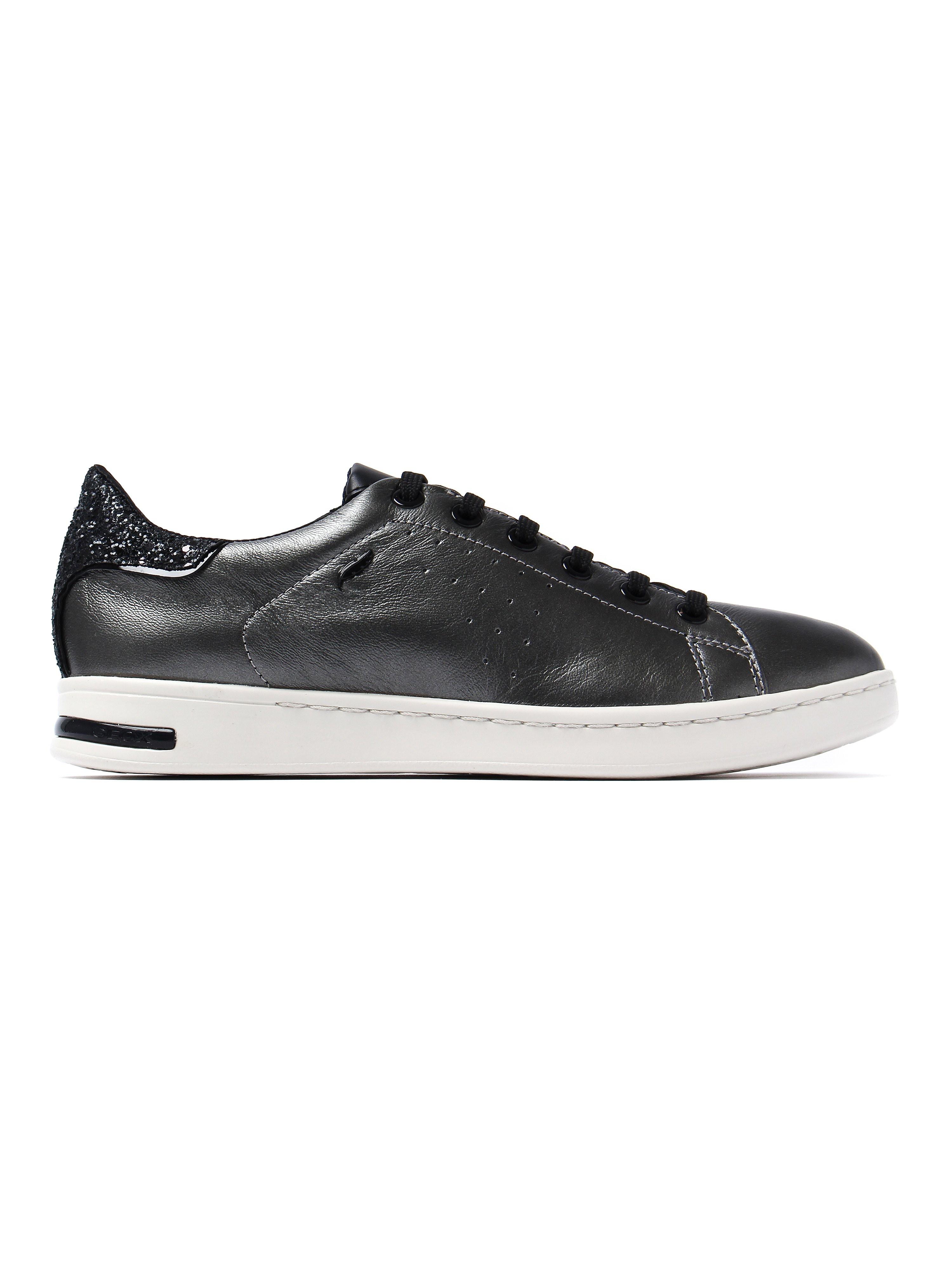 Geox Women's Jaysen Low Top Trainers - Dark Grey Leather