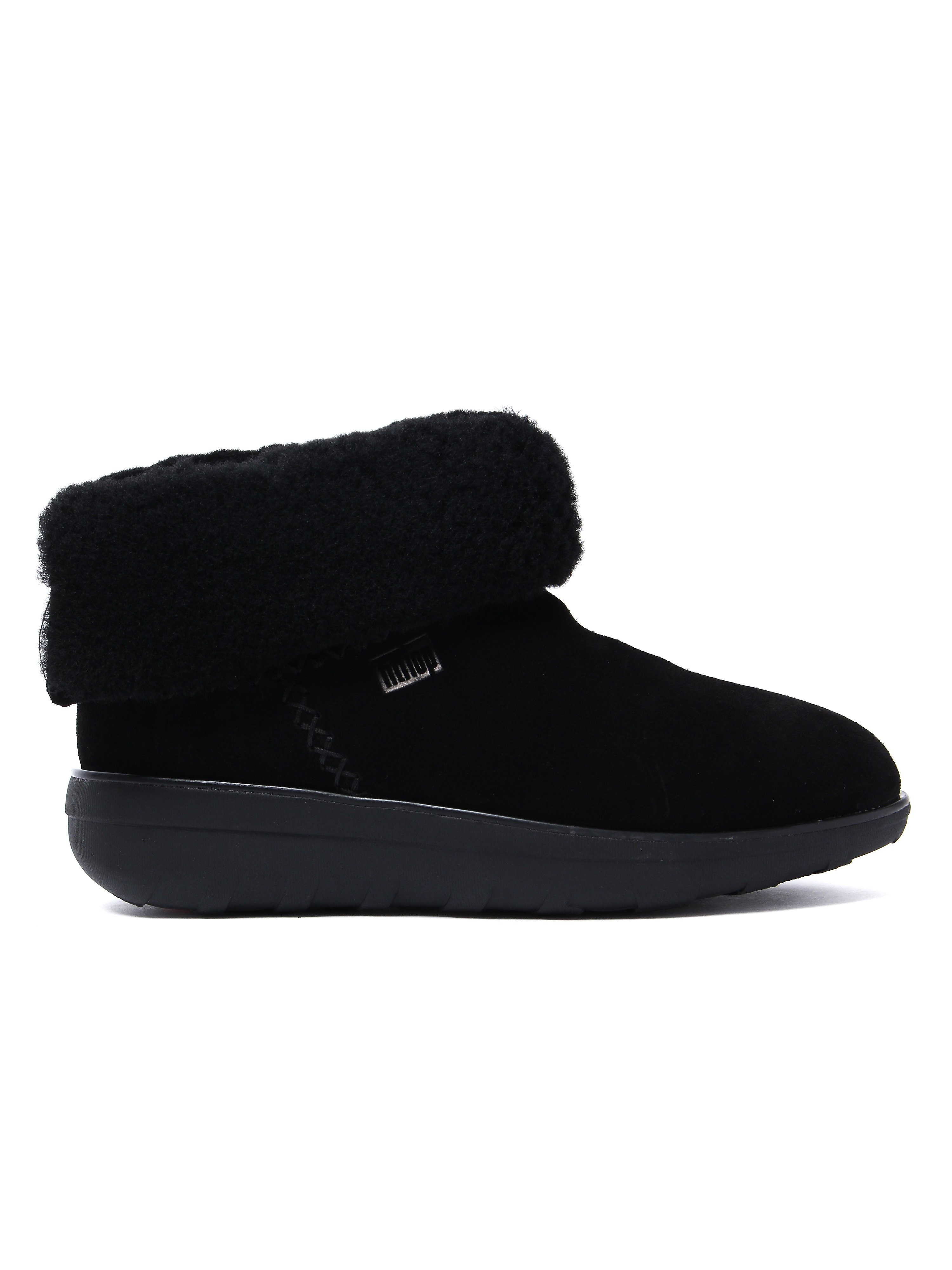 FitFlop Women's Mukluk Shorty 2 Boots - All Black Suede