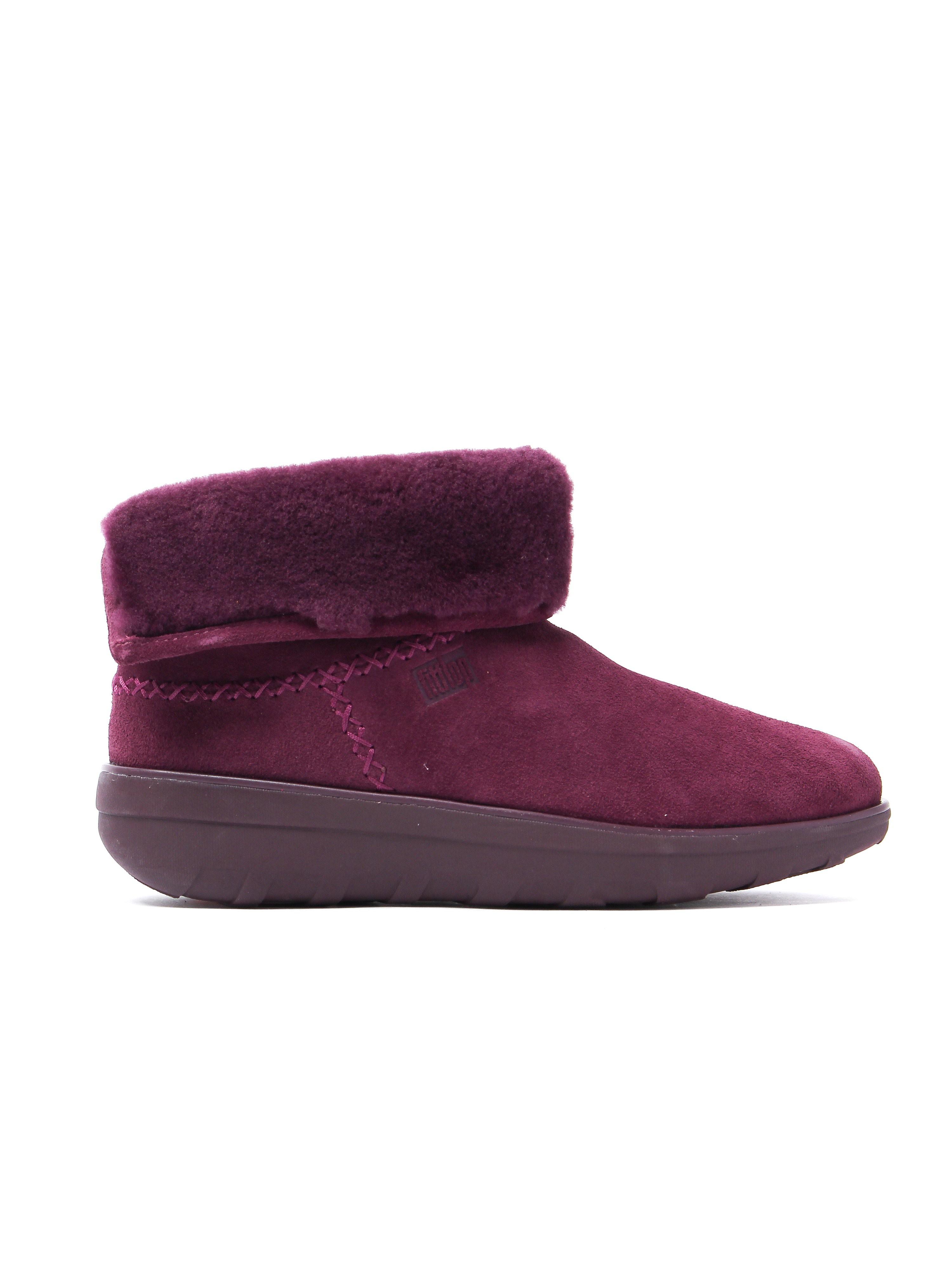 FitFlop Women's Mukluk Shorty 2 Boots - Deep Plum Suede