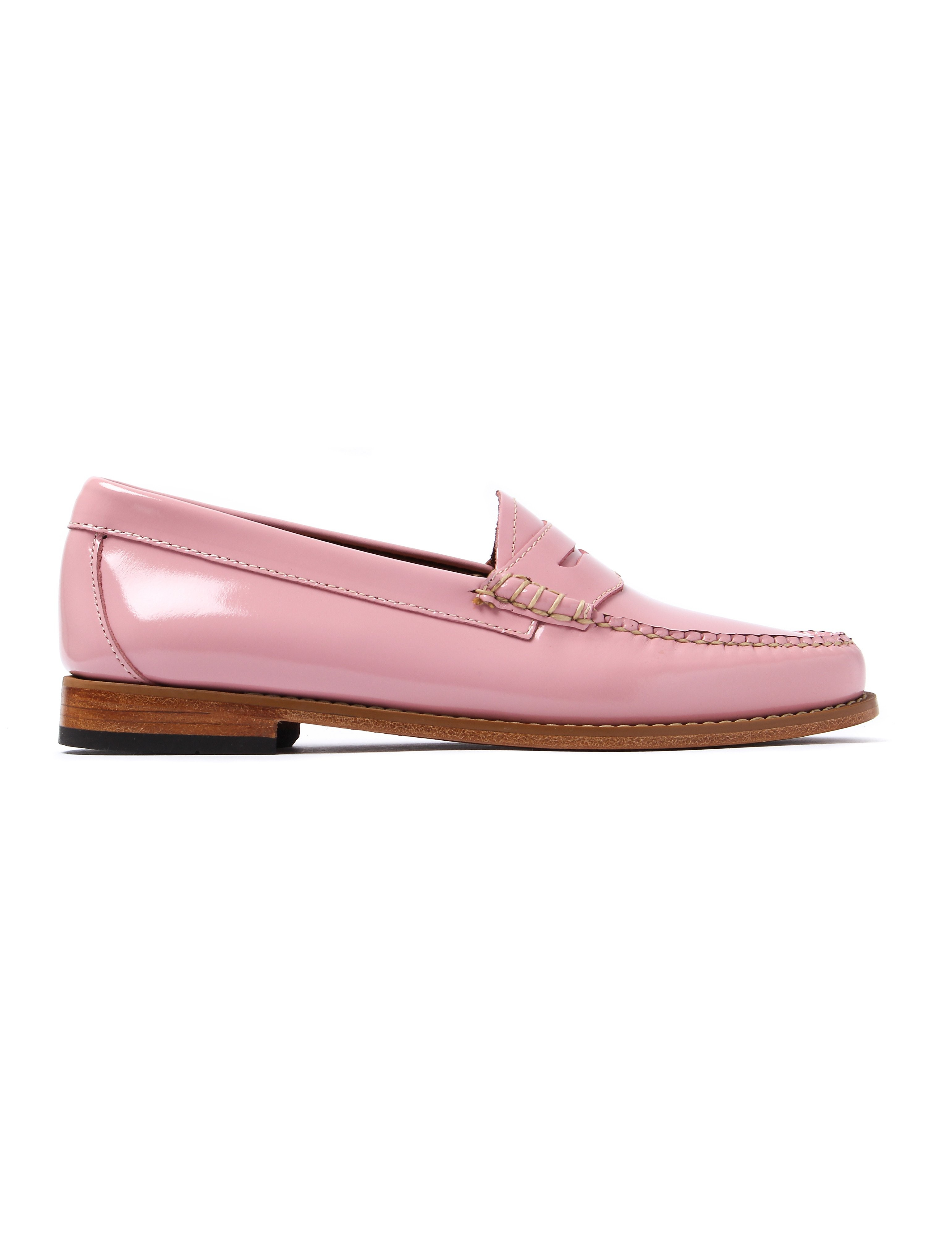 G.H. Bass Women's Weejun Penny Wheel Loafer - Bridal Rose Patent Leather