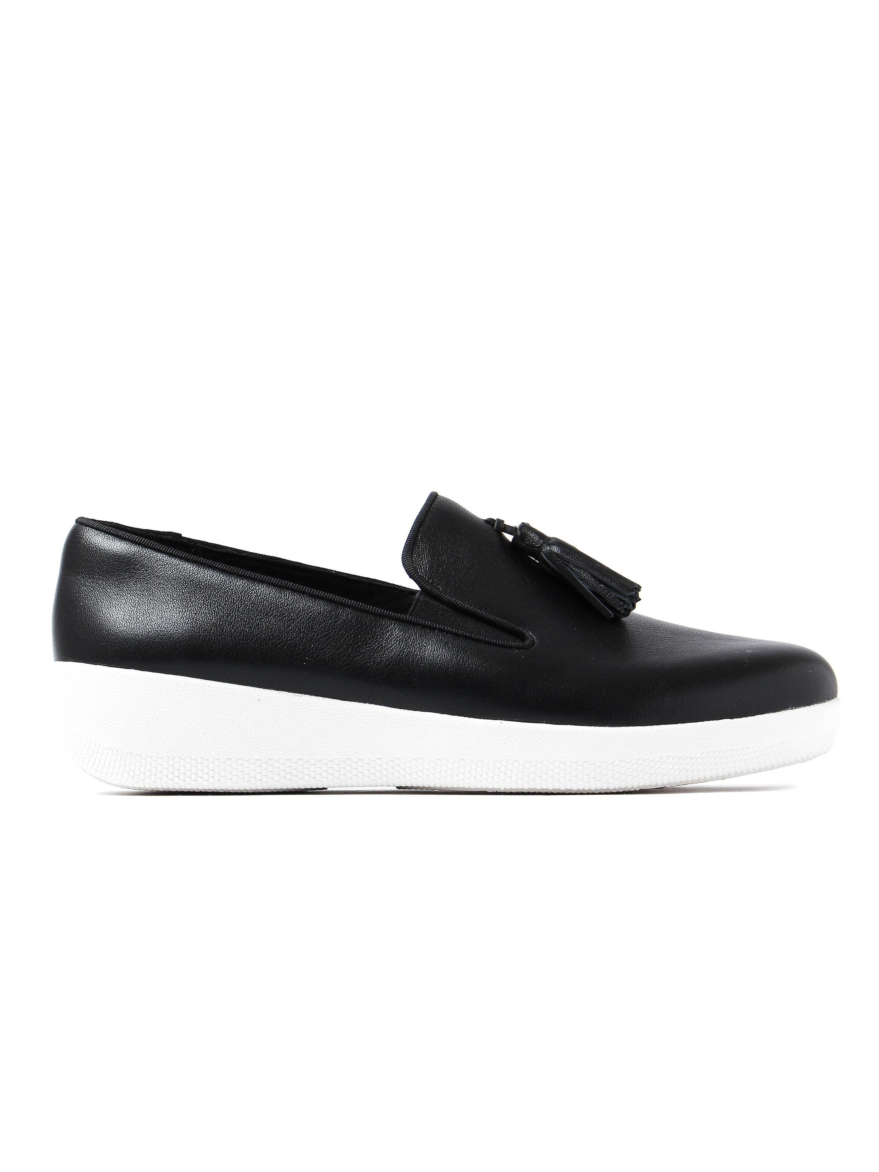 FitFlop Womens Tassel Superskate™ Shoe - Black Leather