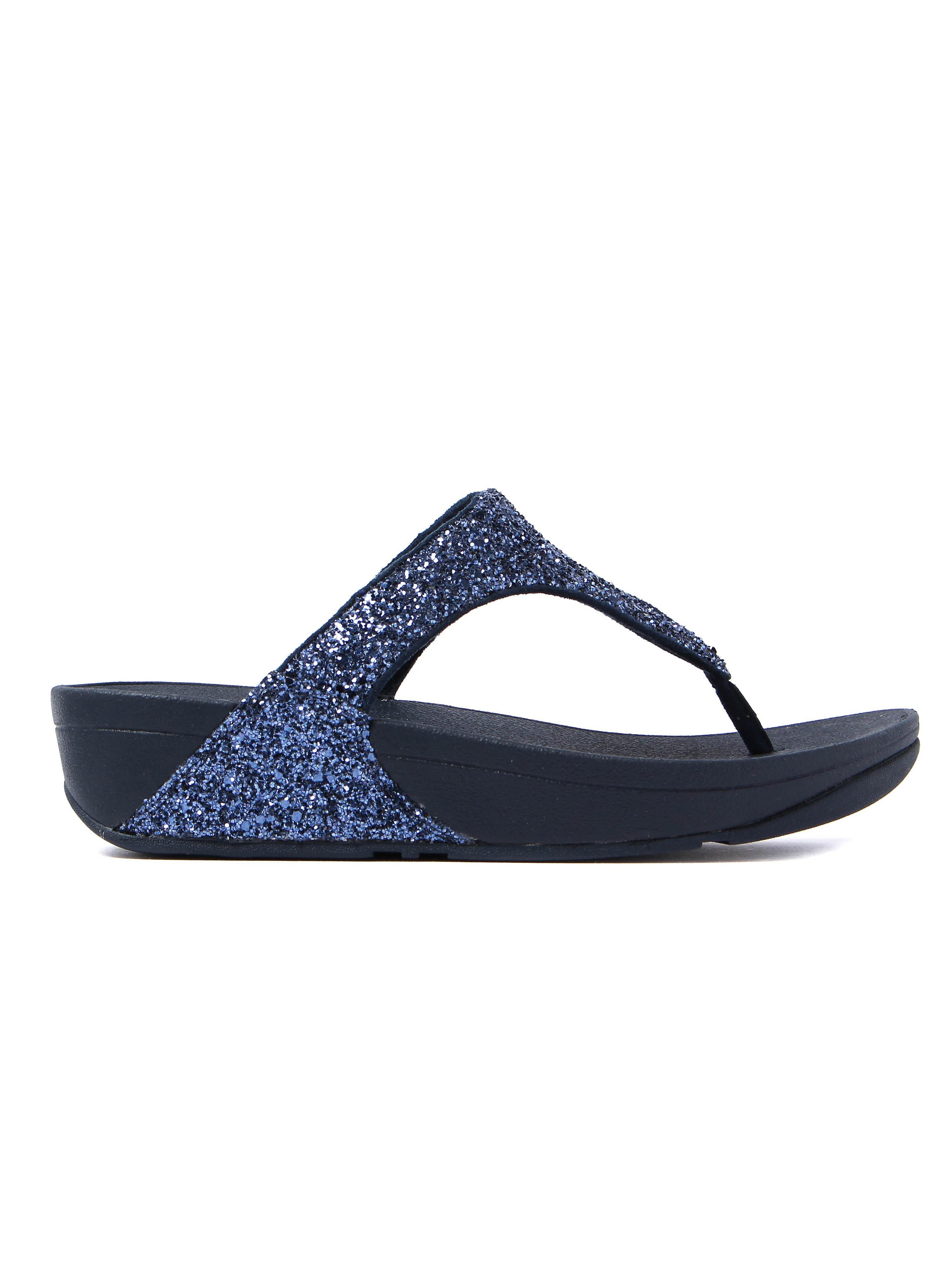FitFlop Women's Glitterball Toe-Post Sandals - Midnight Navy