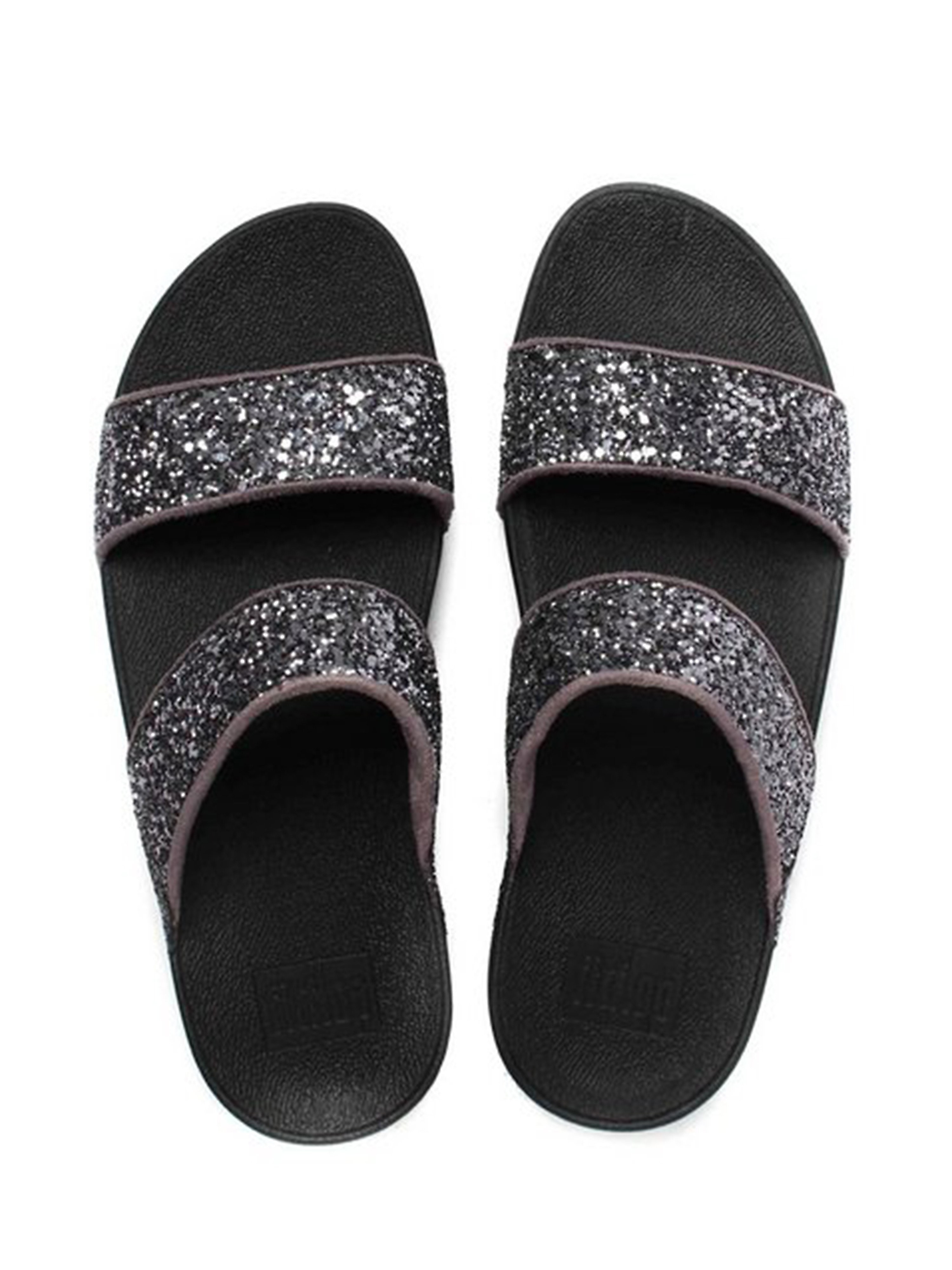 FitFlop Women's Glitterball Slide Sandals - Pewter