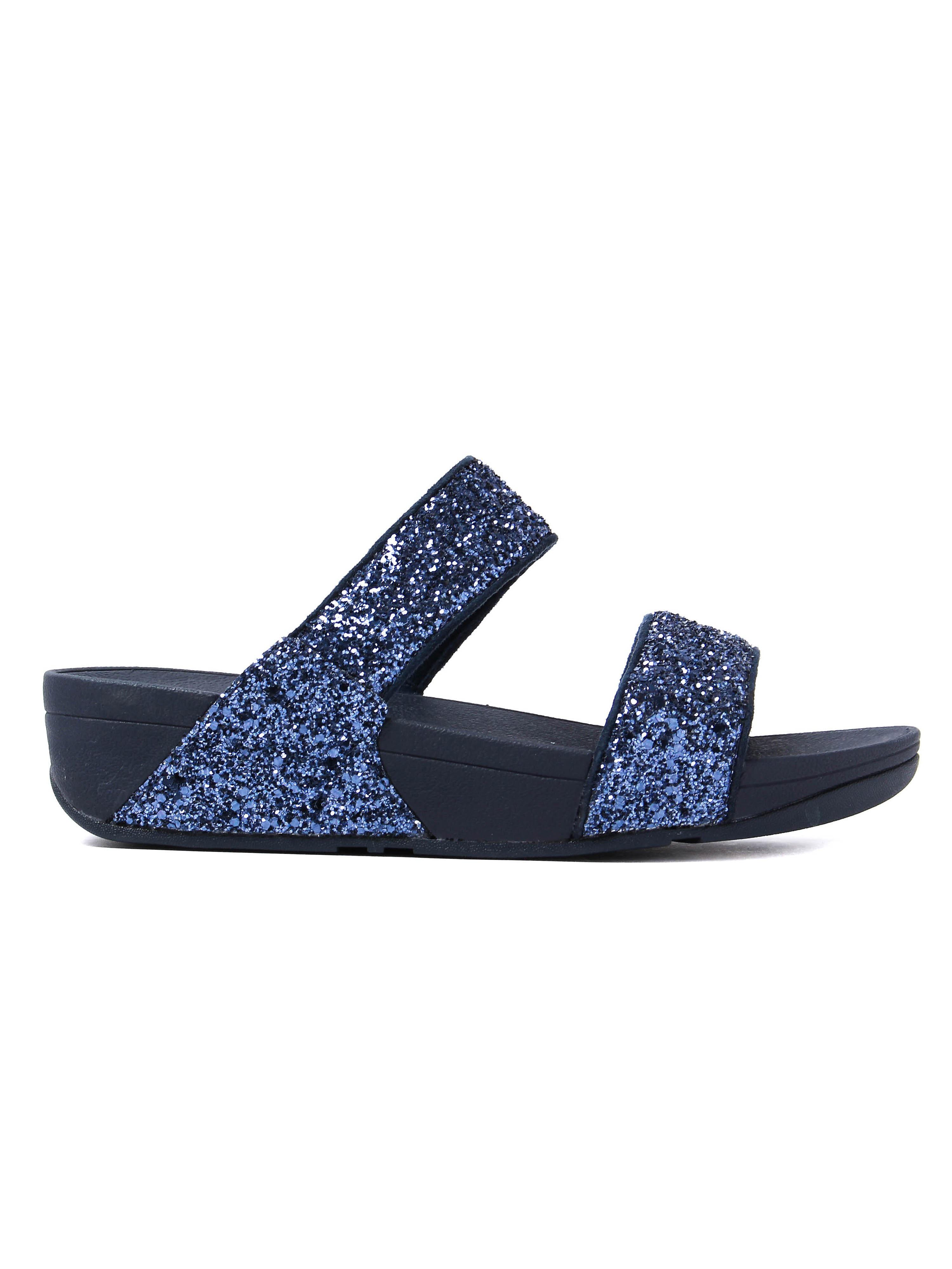 FitFlop Women's Glitterball Slide Sandals - Midnight Night