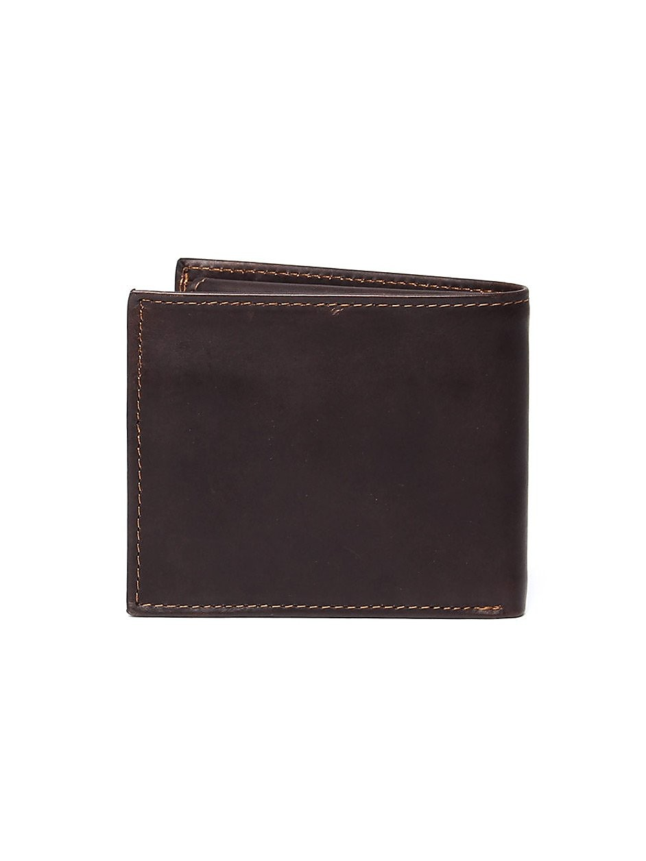 Timberland Men's ODD Billfold Wallet - Brown Leather
