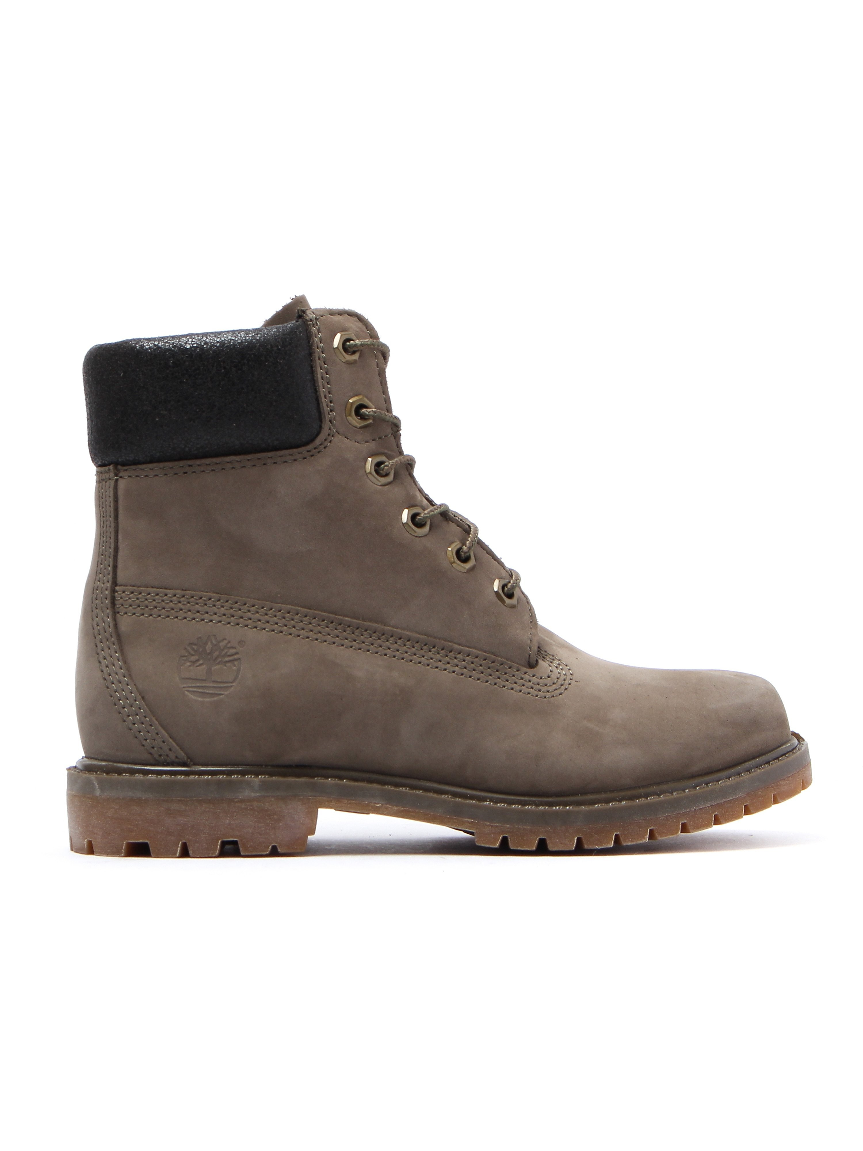 Timberland Women's 6 Inch Premium Boots - Olive Nubuck