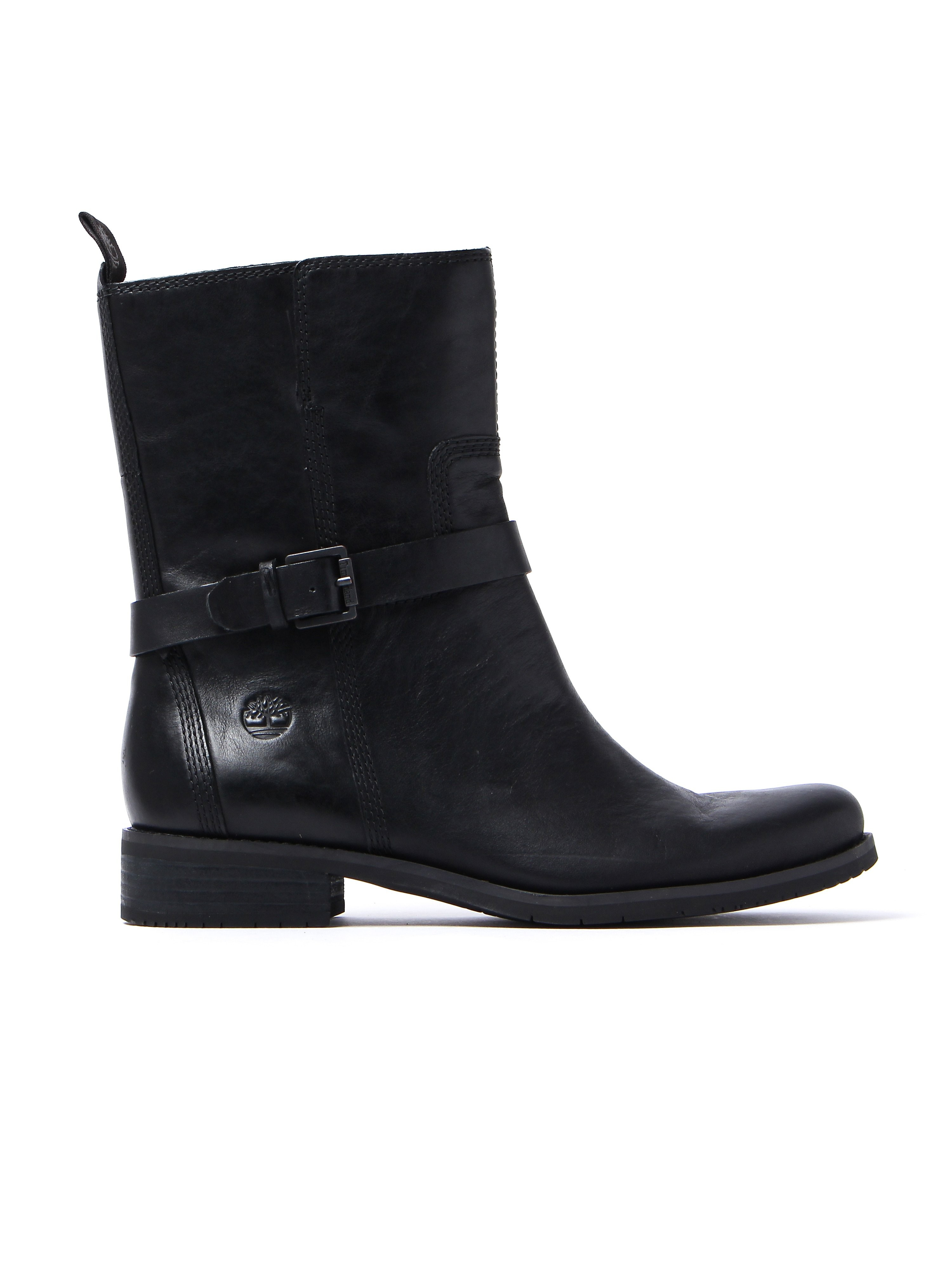 Timberland Women's Venice Park Biker Boots – Black Leather