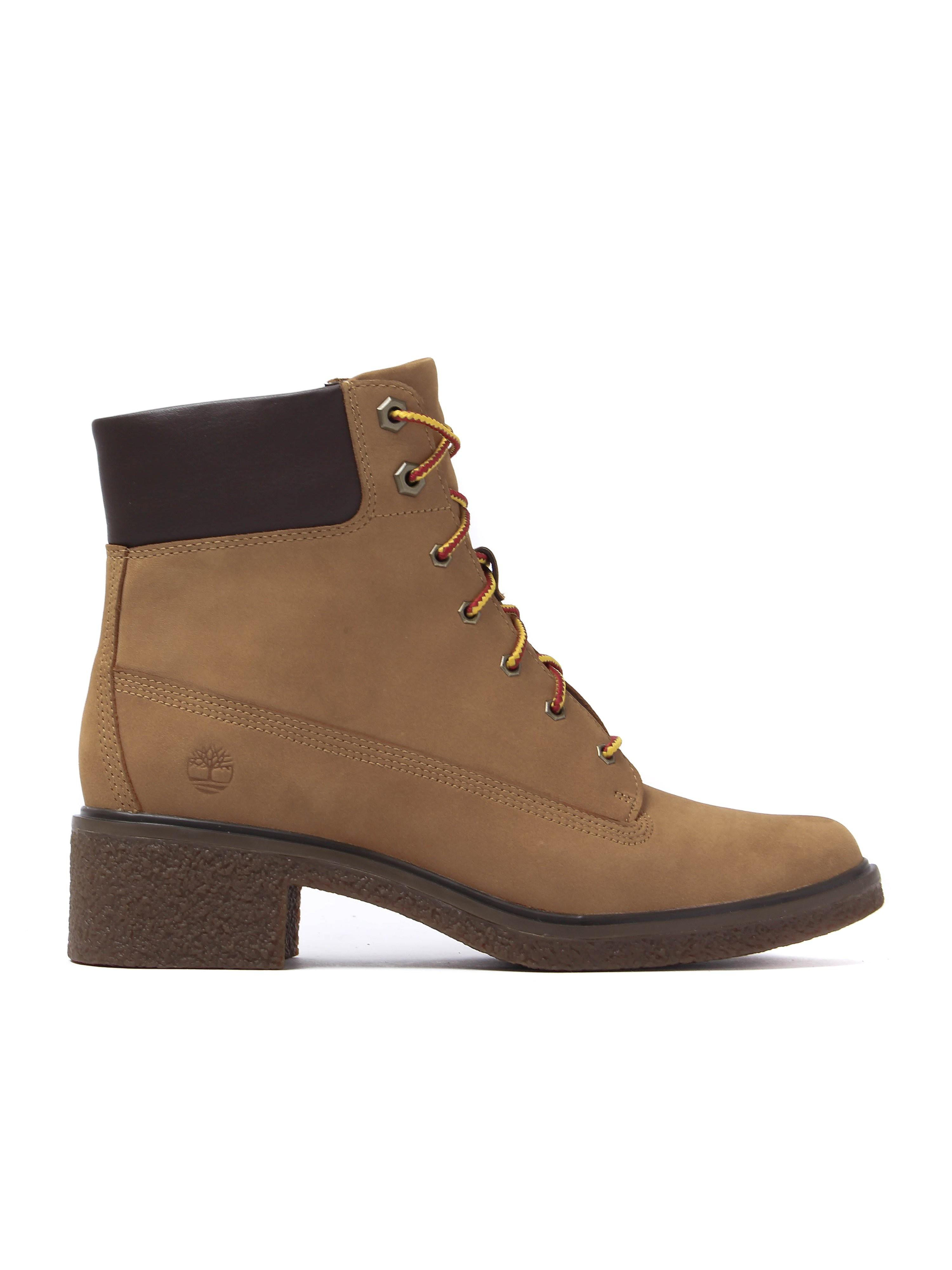 Timberland Women's Brinda 6 Inch Boots - Wheat Nubuck