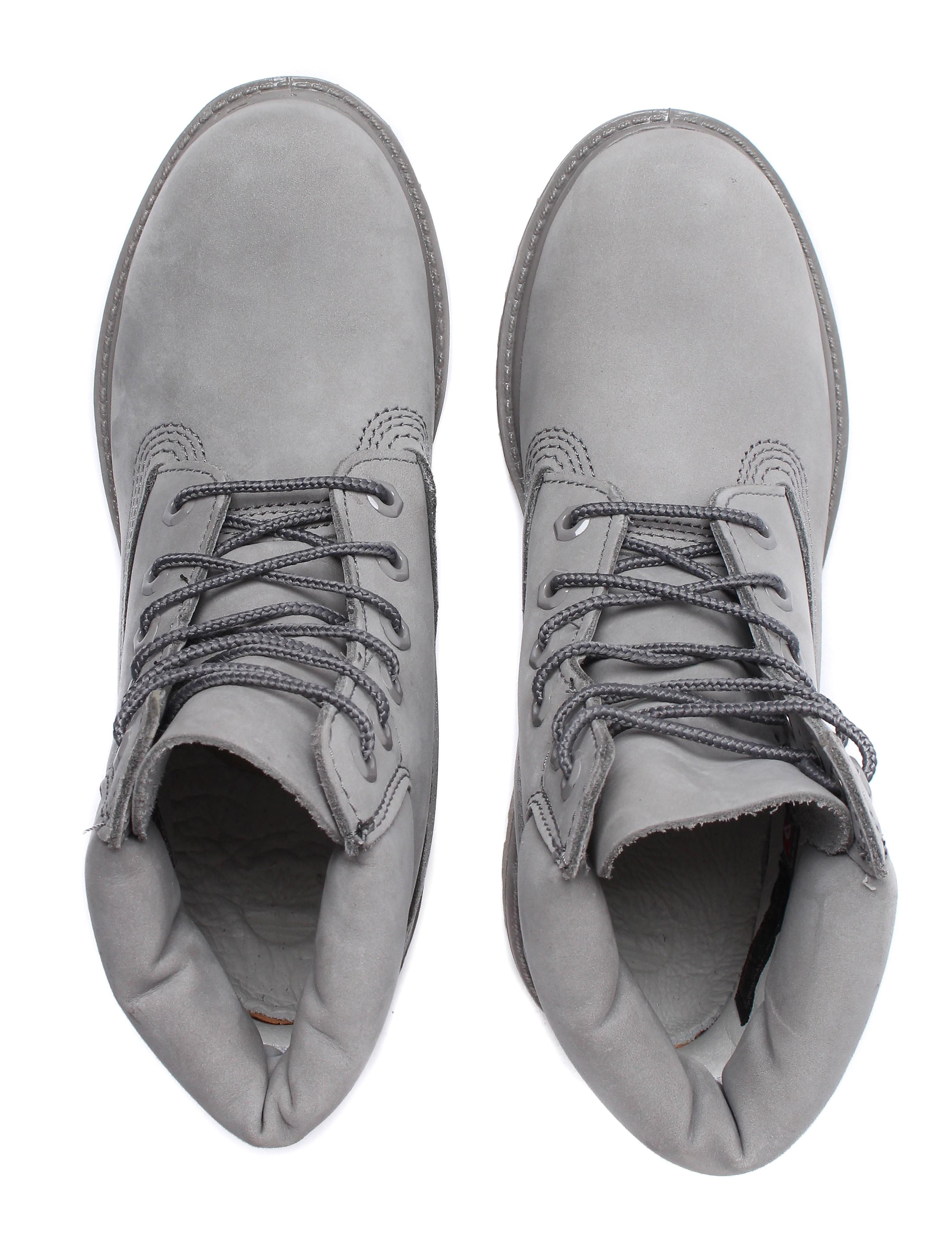 Timberland Women's 6 Inch Premium Boots - Mid Grey Nubuck