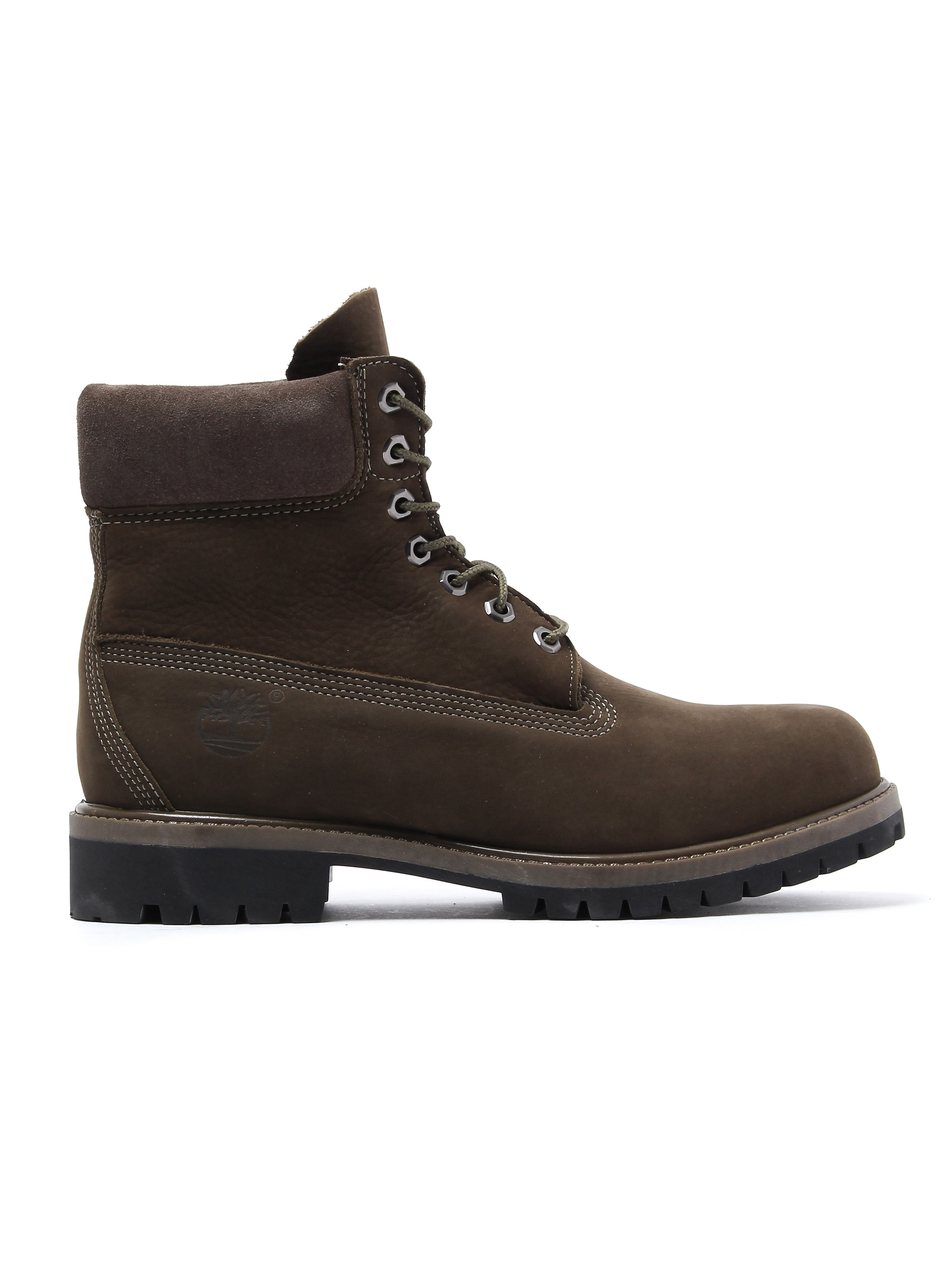 Timberland Men's 6 Inch Premium Boots - Olive Nubuck