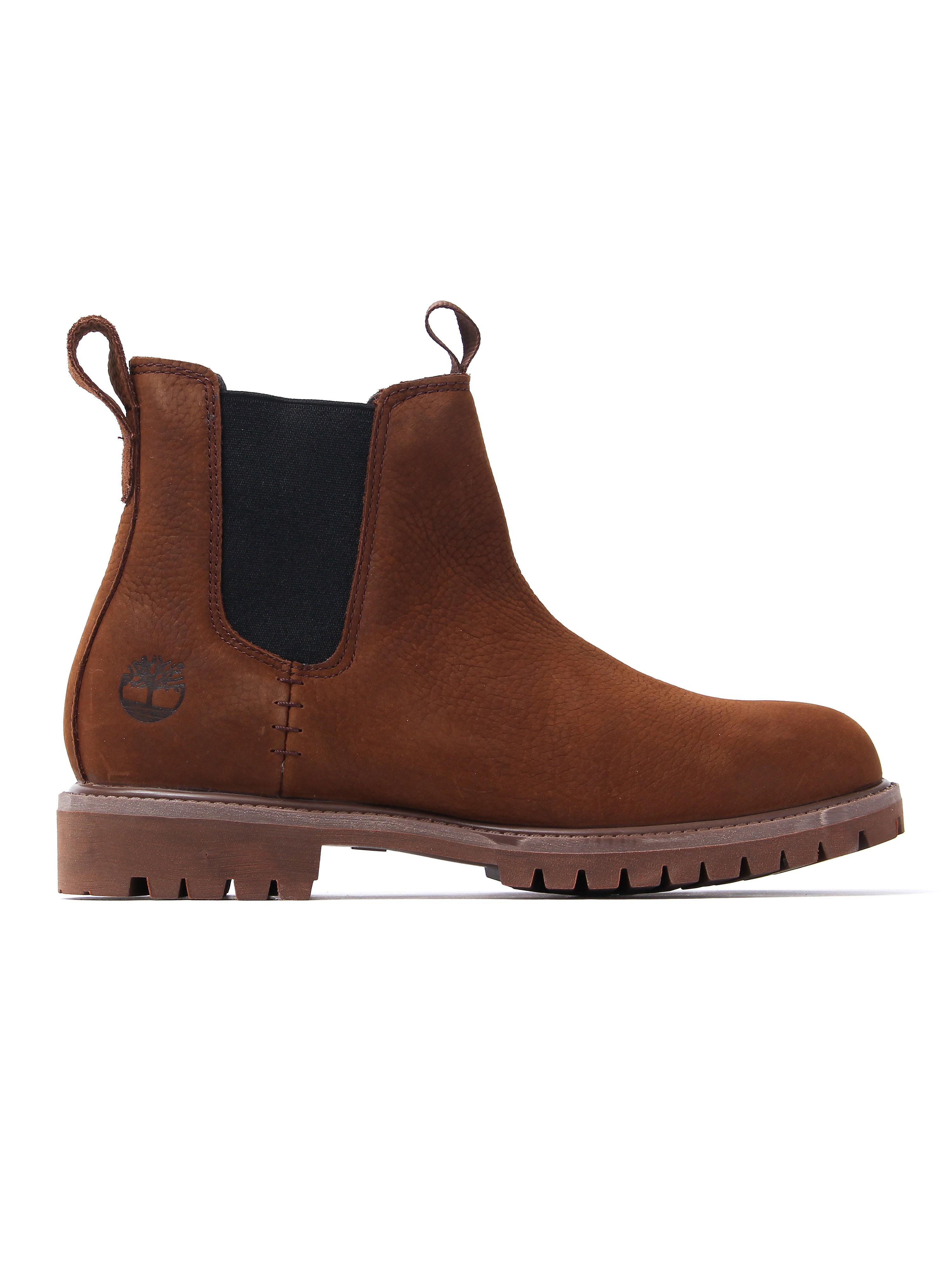 Timberland Men's 6 Inch Premium Chelsea Boots - Potting Soil Nubuck