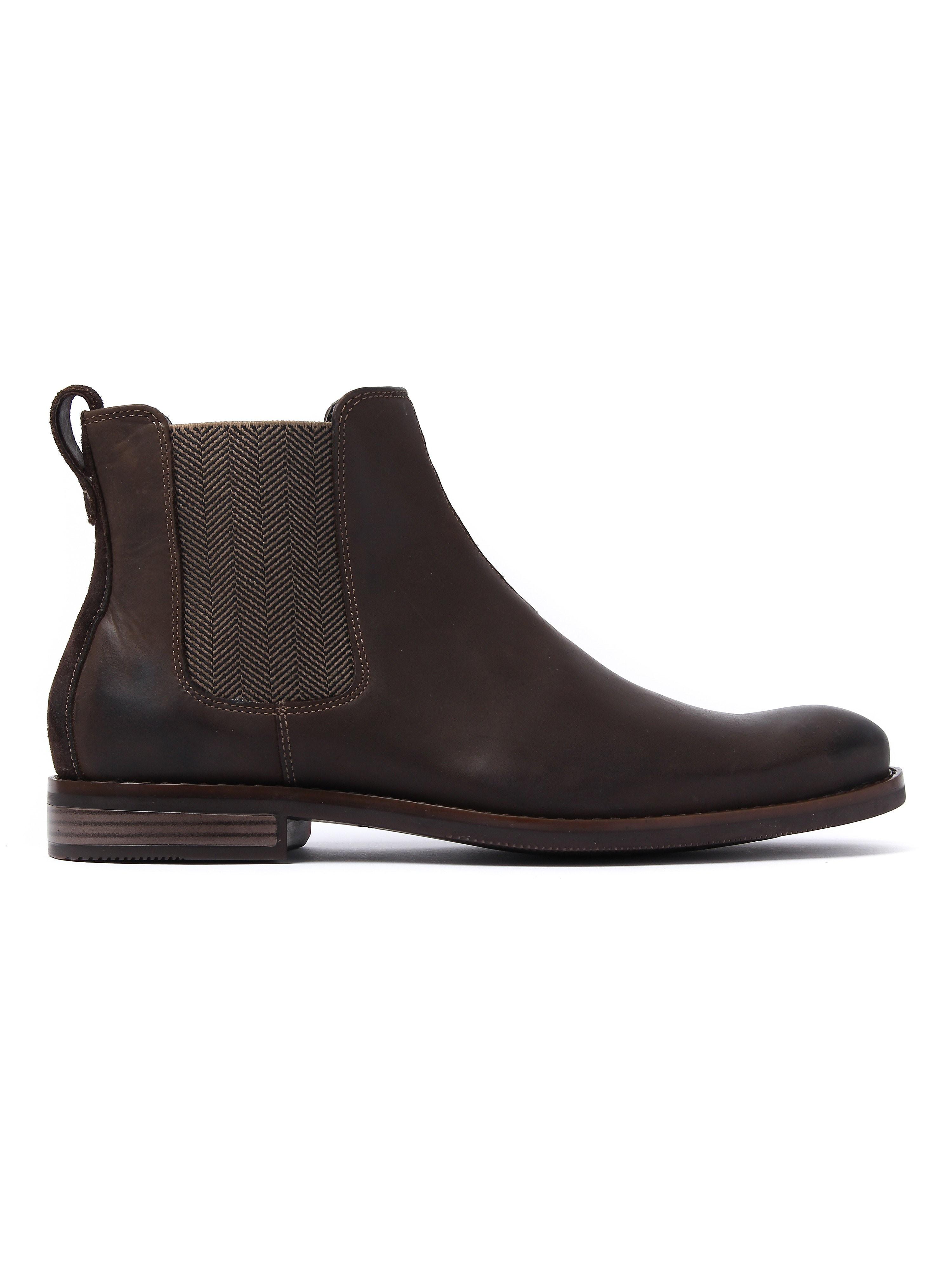 Rockport Men's Wynstin Chelsea Boots - Dark Brown Leather
