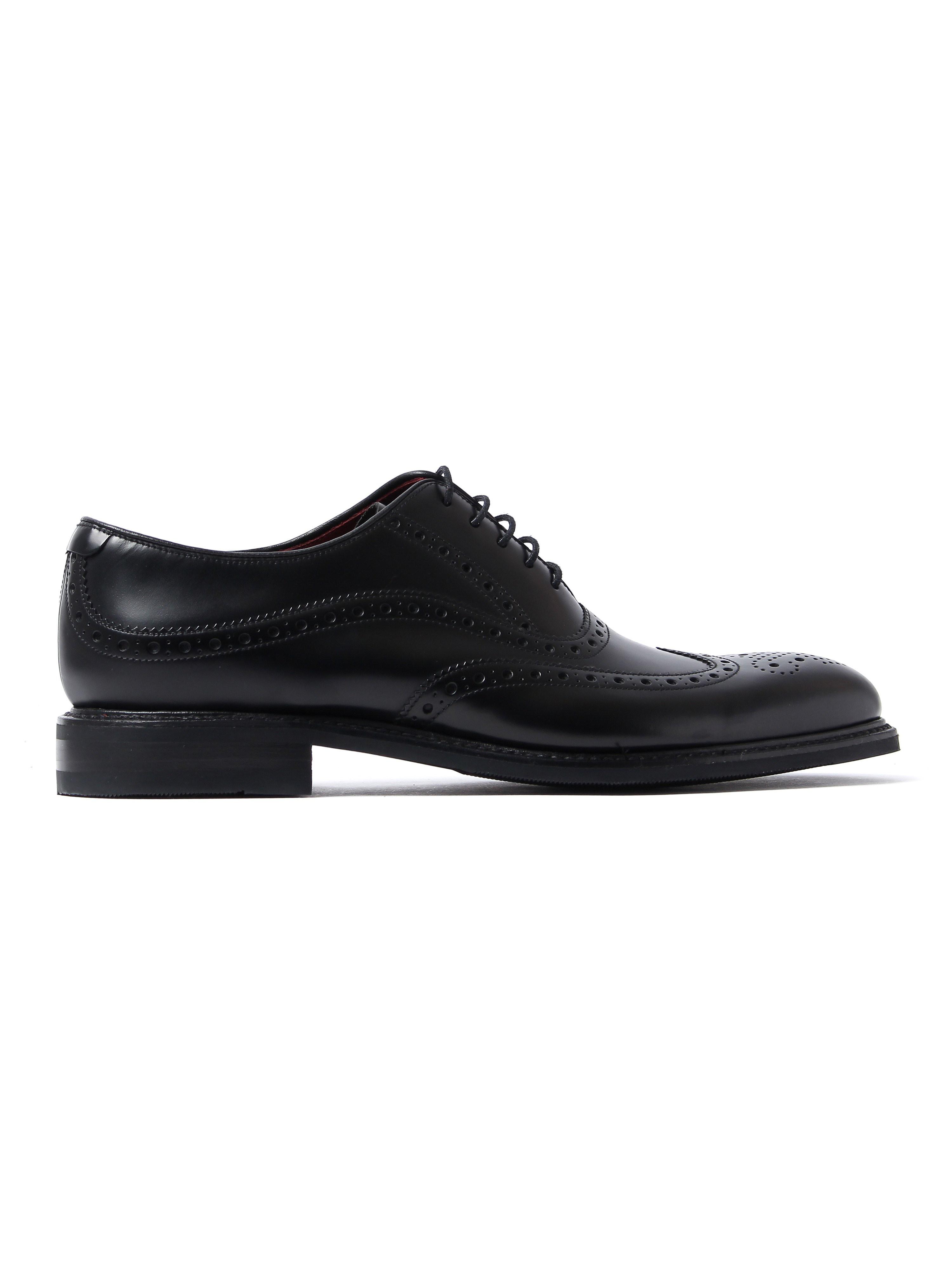 Loake Men's Demon Shadow Brogue Shoes - Black