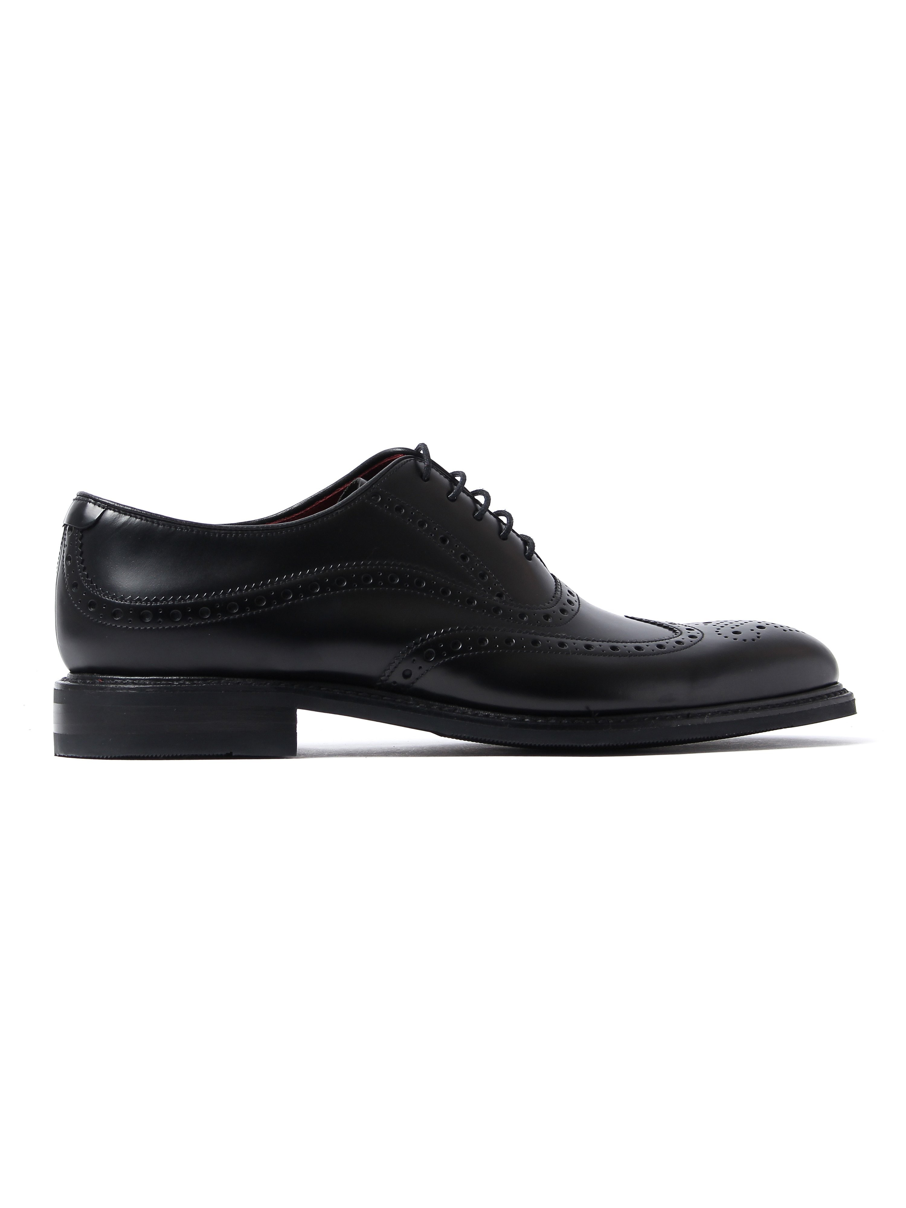 Loake Men's Demon Shadow Brogue Shoes - Black