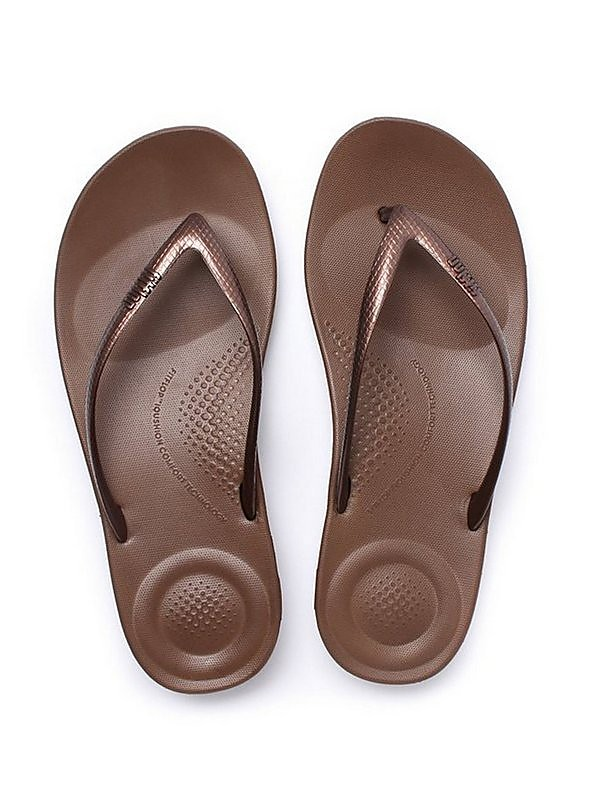 FitFlop Women's iQUSHION Ergonomic Flip Flops - Bronze