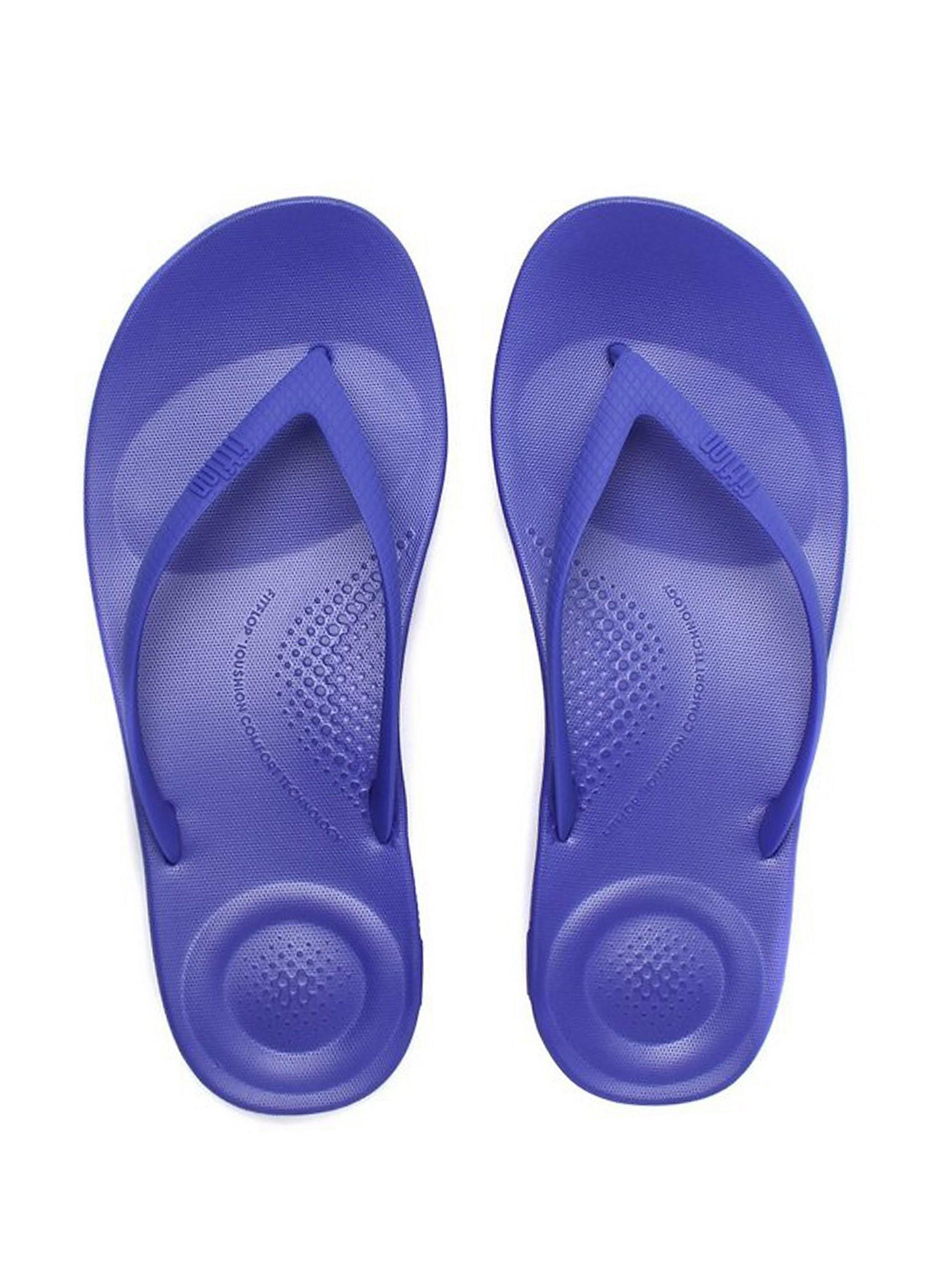 FitFlop Women's iQUSHION Ergonomic Flip Flops - Royal Blue