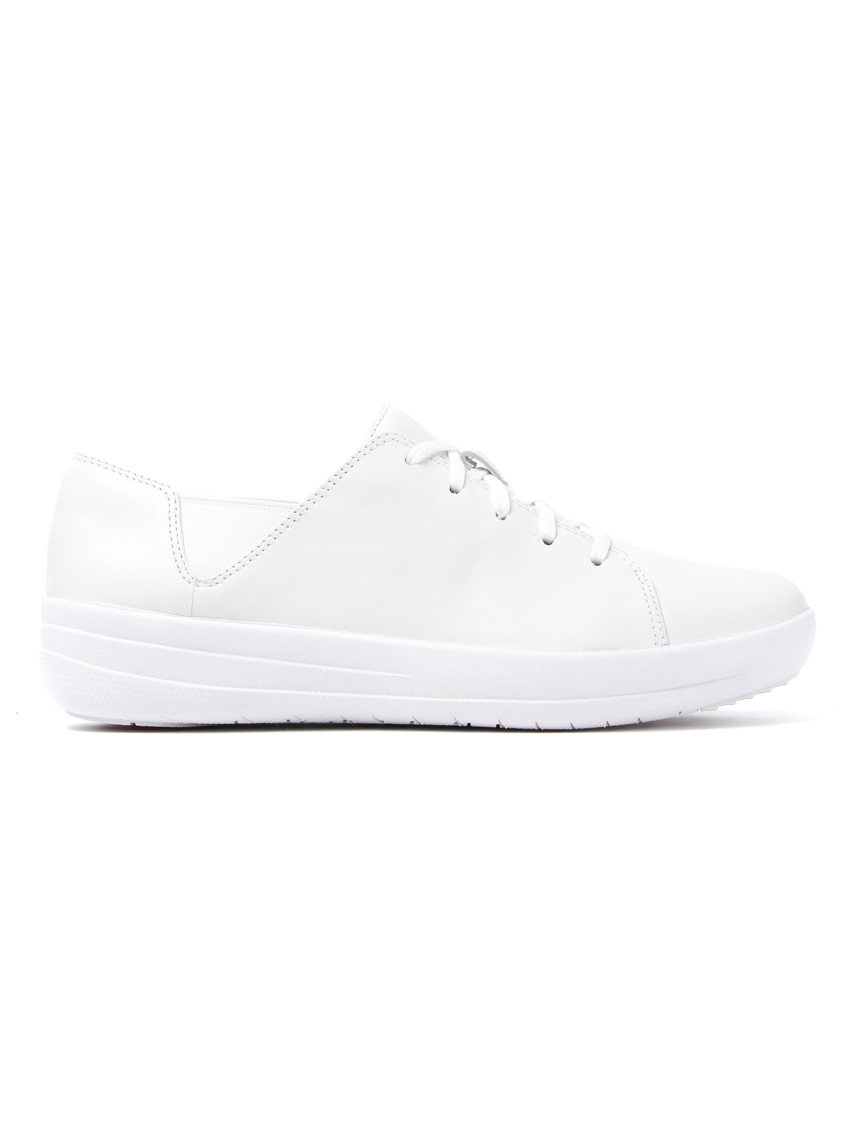 FitFlop Women's F-Sporty Lace-Up Leather Trainers - Urban White