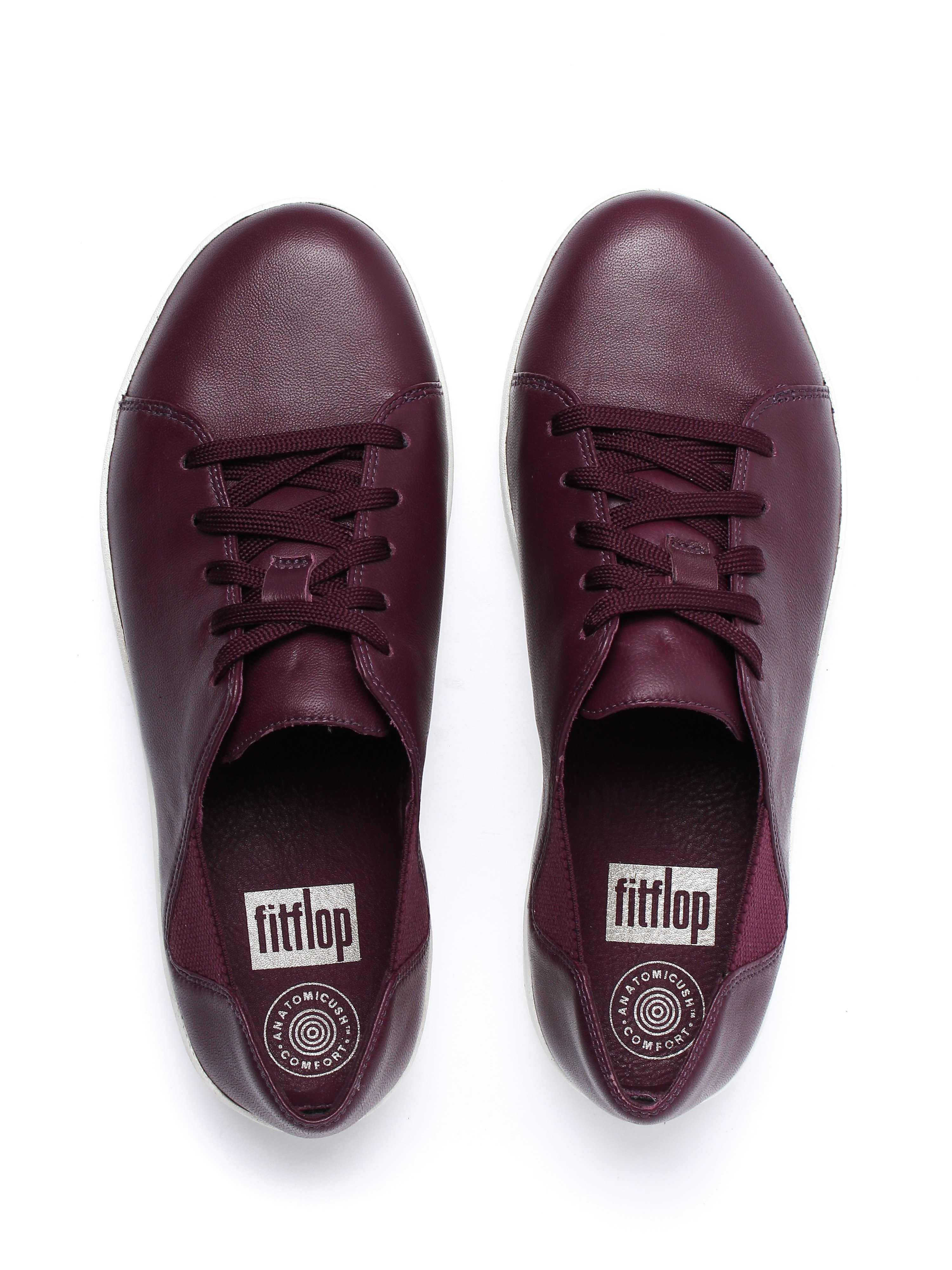 FitFlop Women's F-Sporty Lace Trainers - Deep Plum Leather