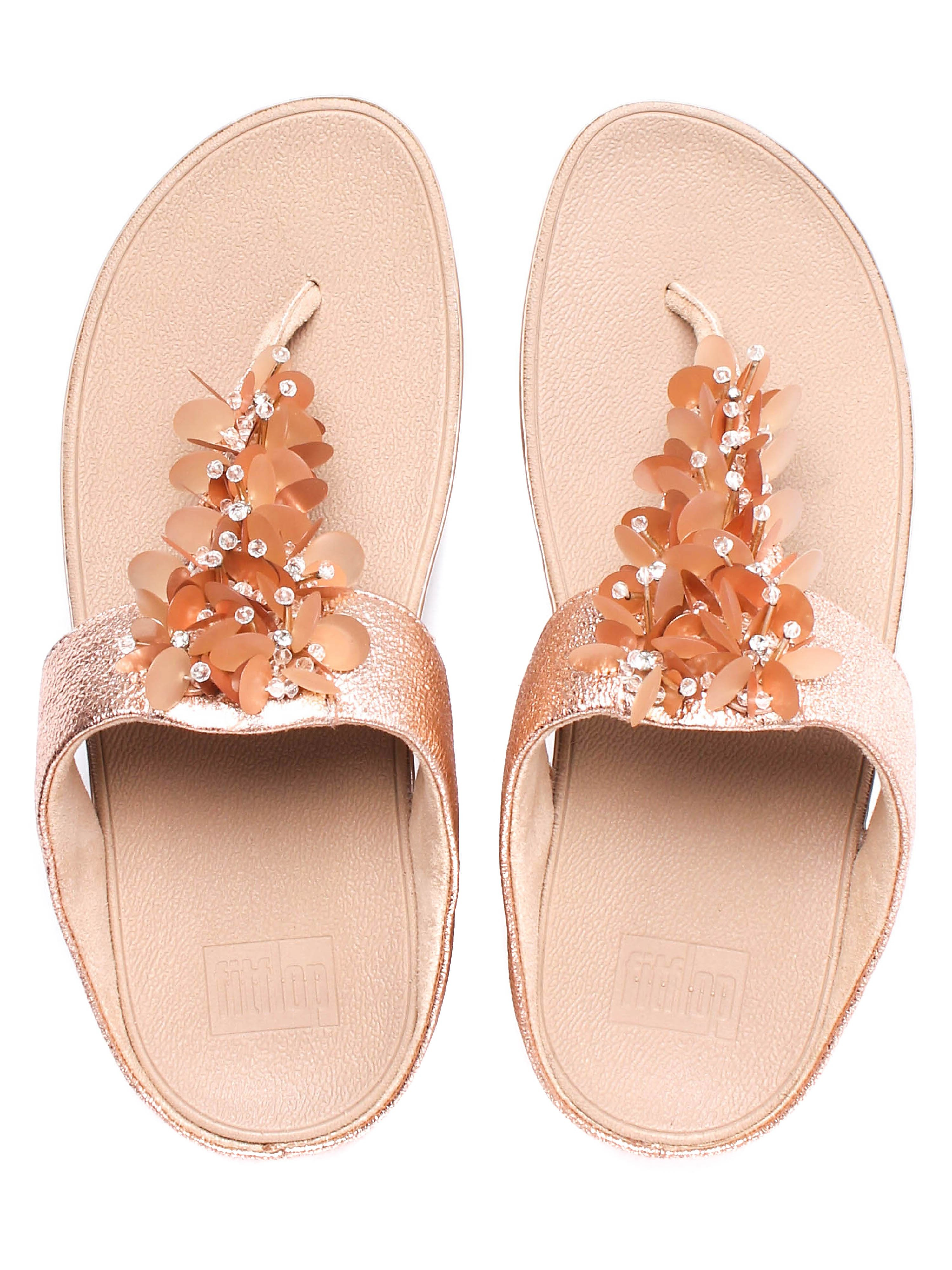 FitFlop Women's Boogaloo Toe-Post Sandals - Rose Gold
