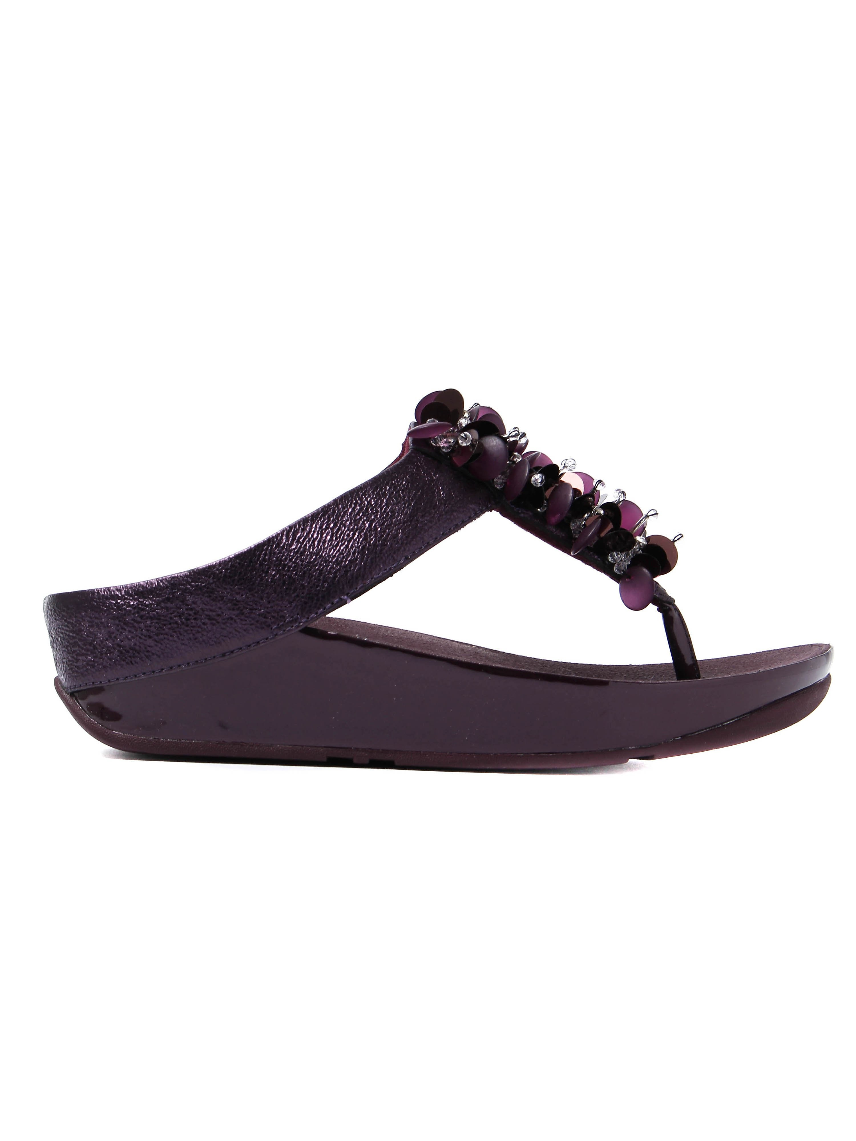 FitFlop Women's Boogaloo Toe-Post Sandals - Deep Plum