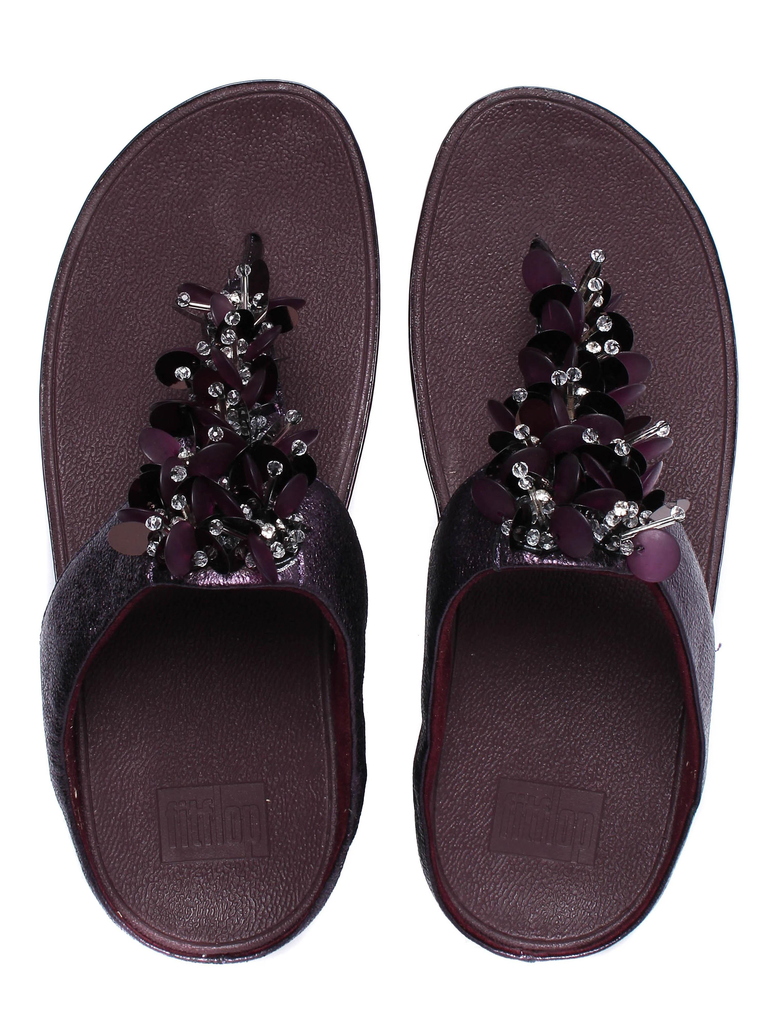 FitFlop Women's Boogaloo Toe-Post Sandals - Deep Plum