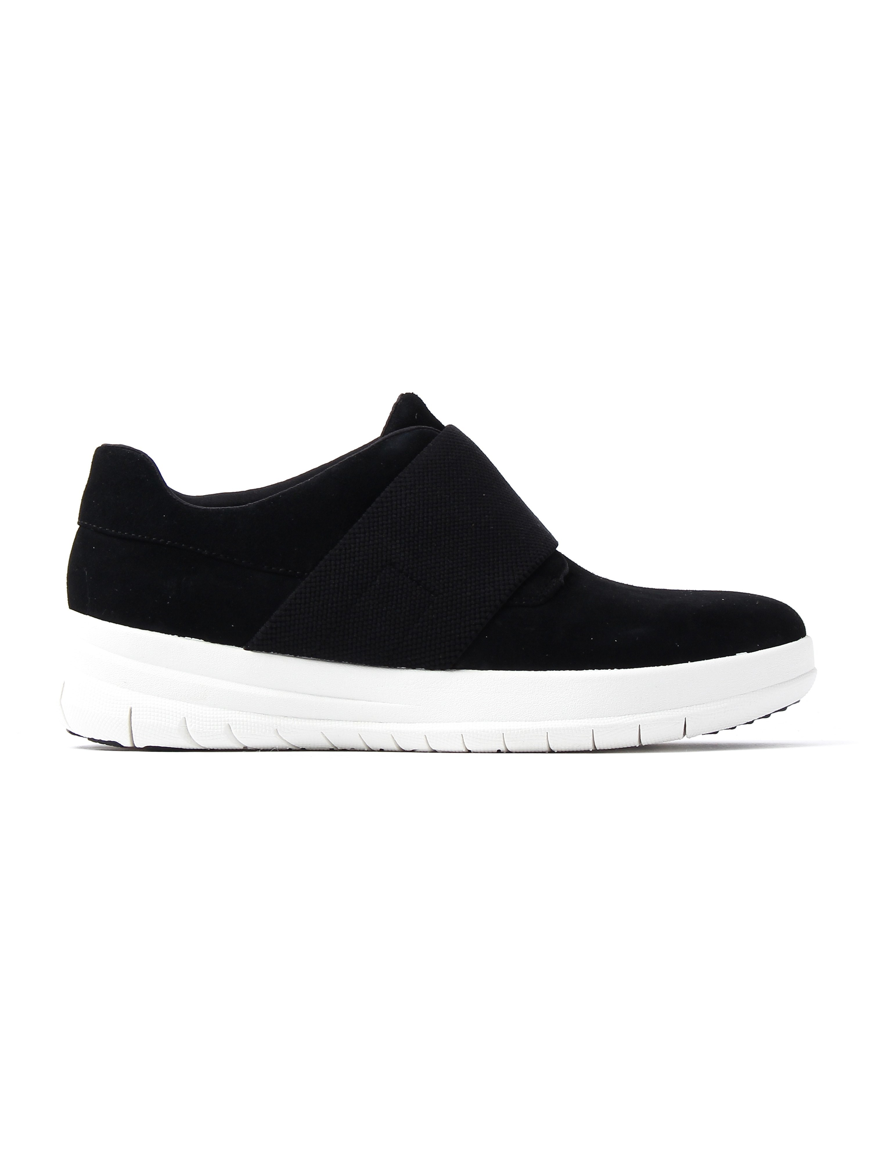 FitFlop Women's Sporty-Pop Slip-On Trainers - Black Suede