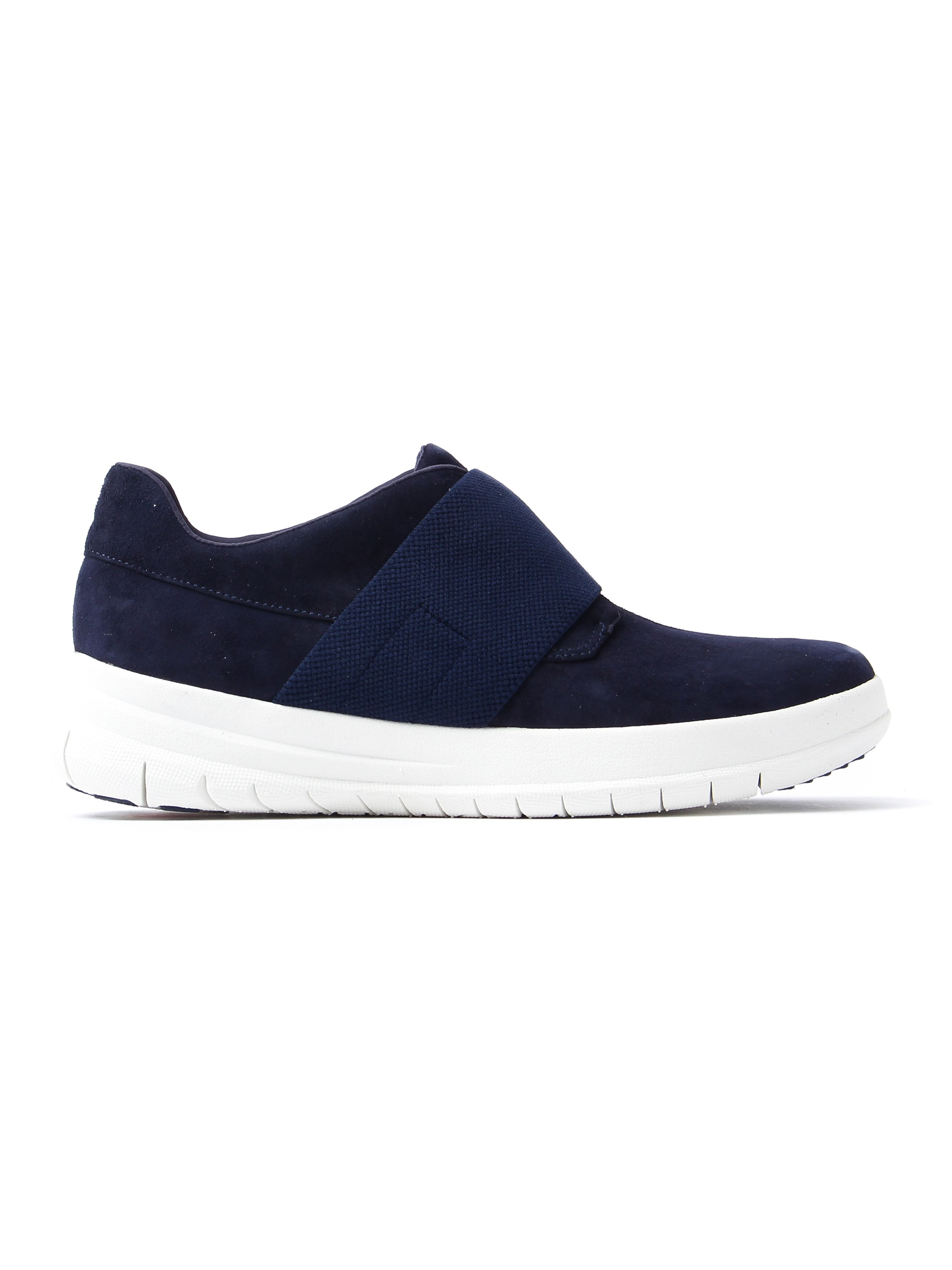 FitFlop Women's Sporty-Pop Slip-On Trainers - Midnight Navy Suede