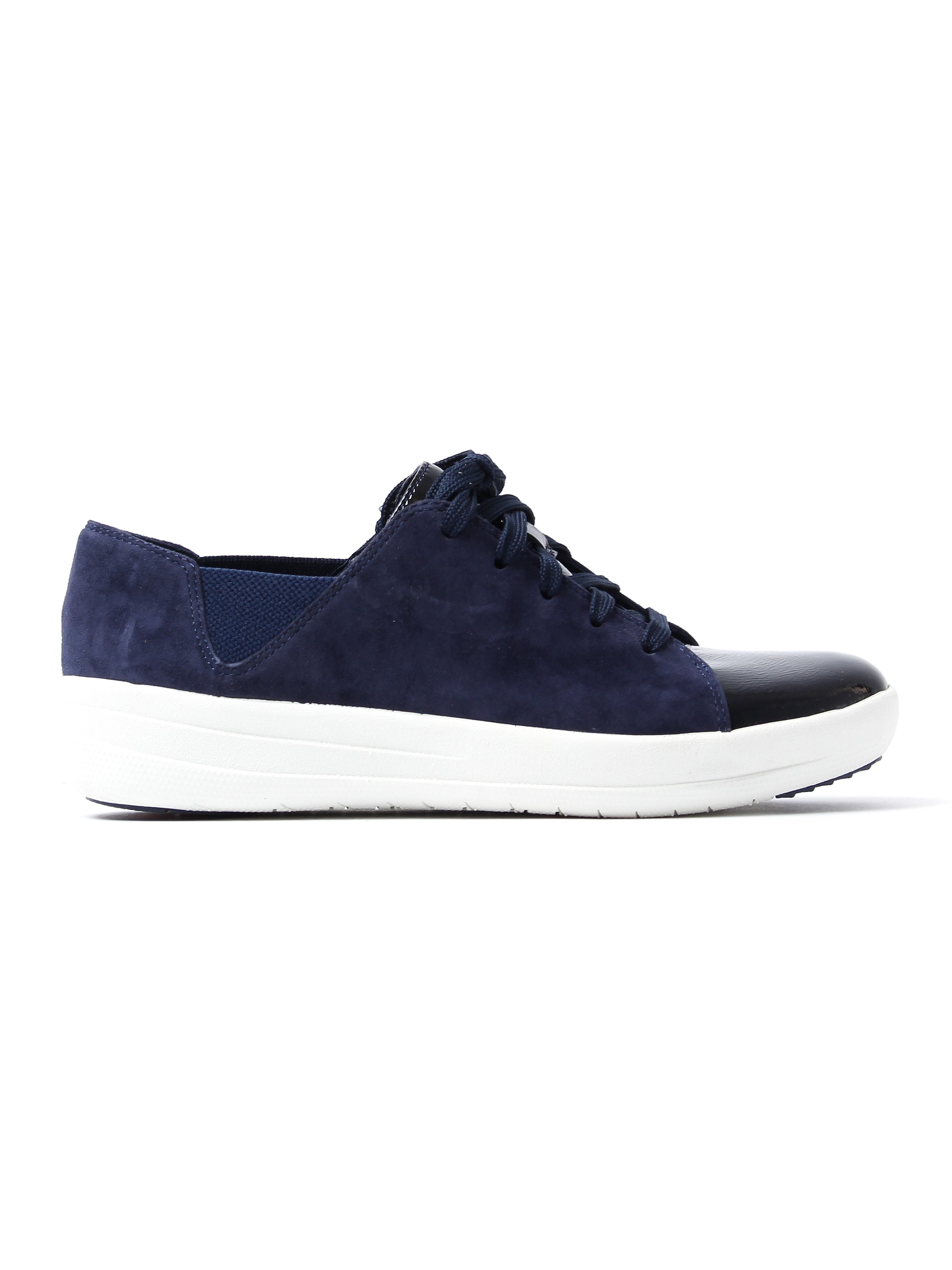 FitFlop Women's F-Sporty Lace Up Trainers - Midnight Navy Suede