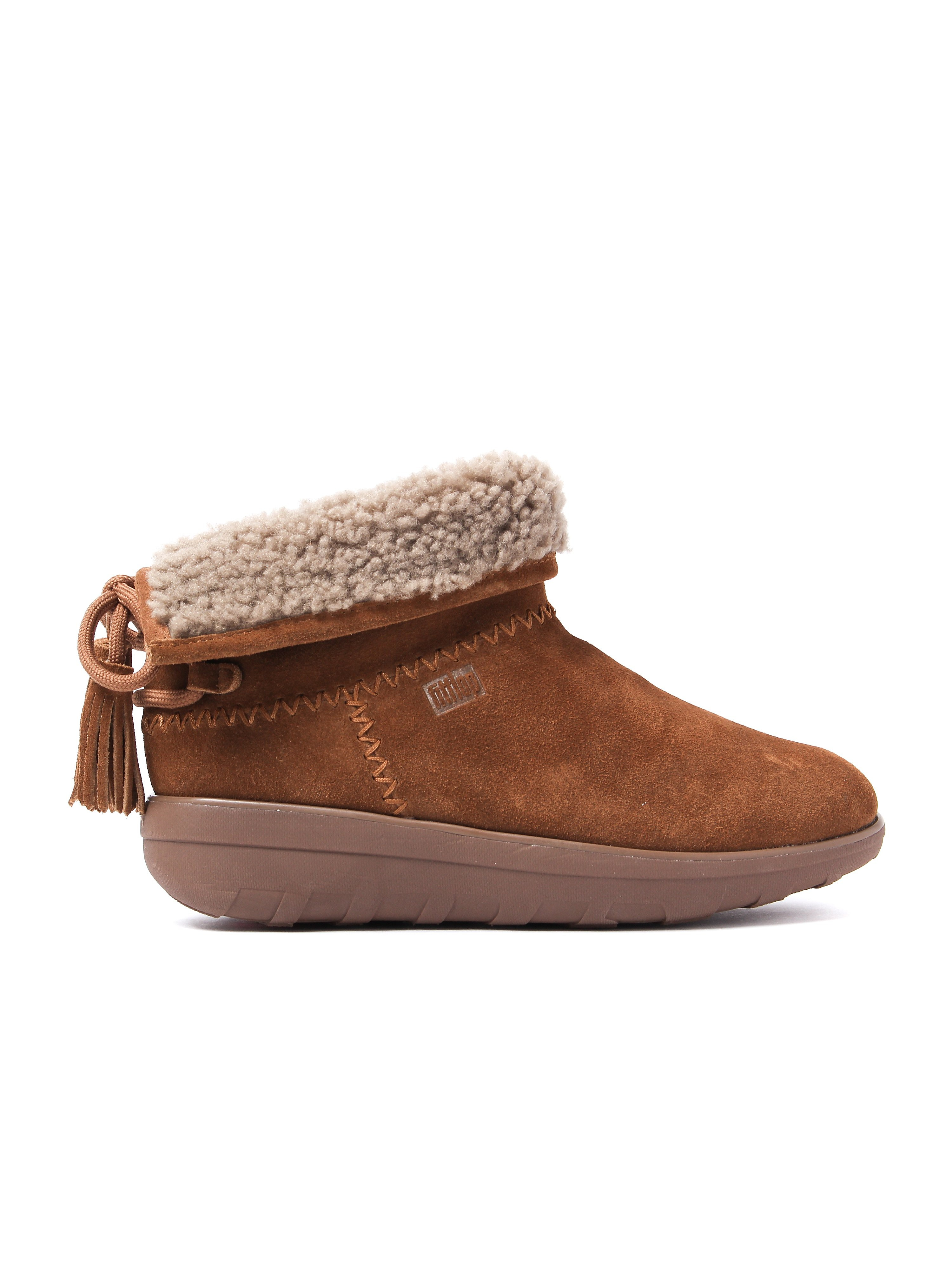 FitFlop Women's Mukluk Shorty II Boots With Tassels - Chestnut Suede
