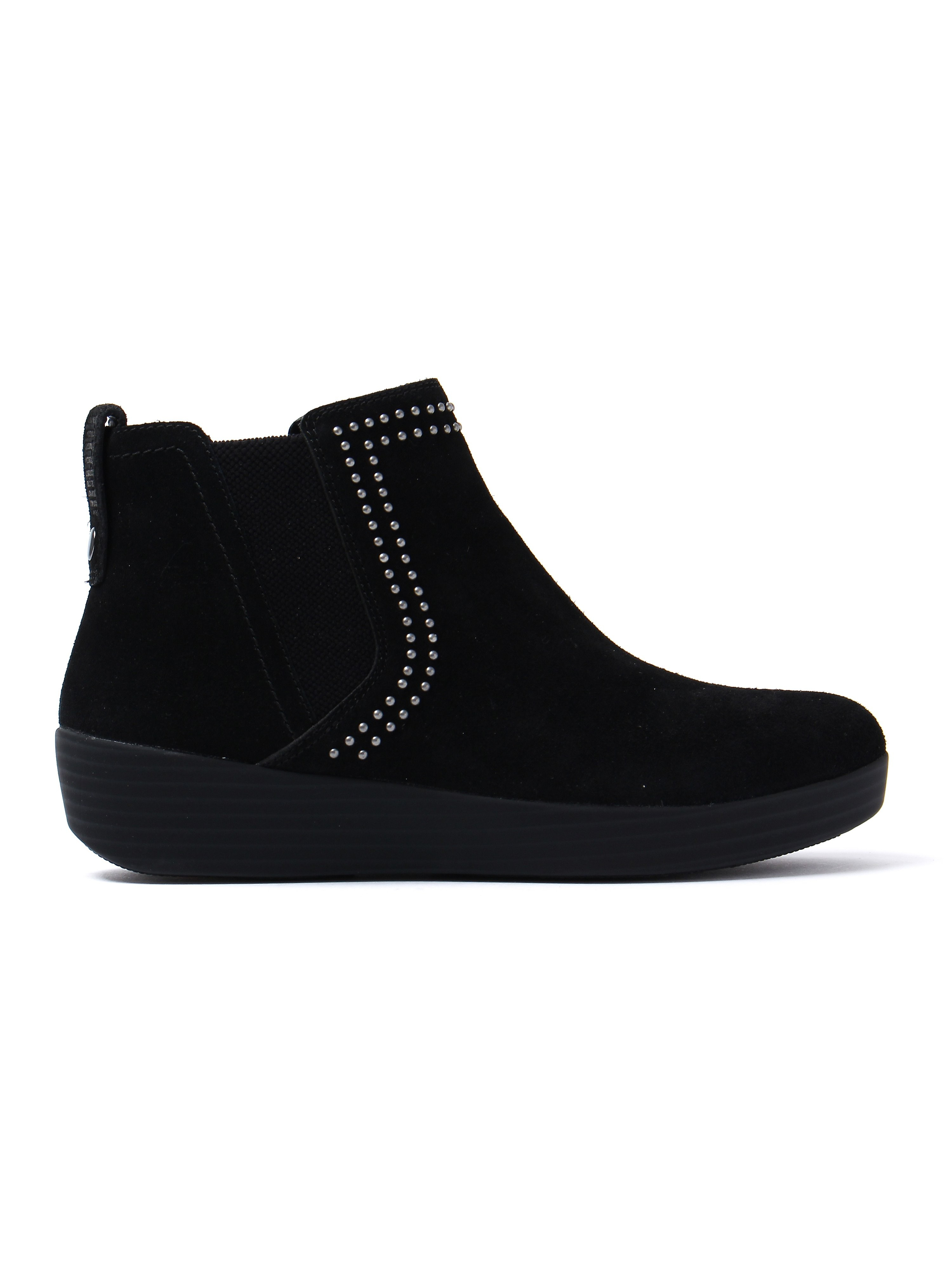 FitFlop Women's Superchelsea Studs Boots - Black Suede