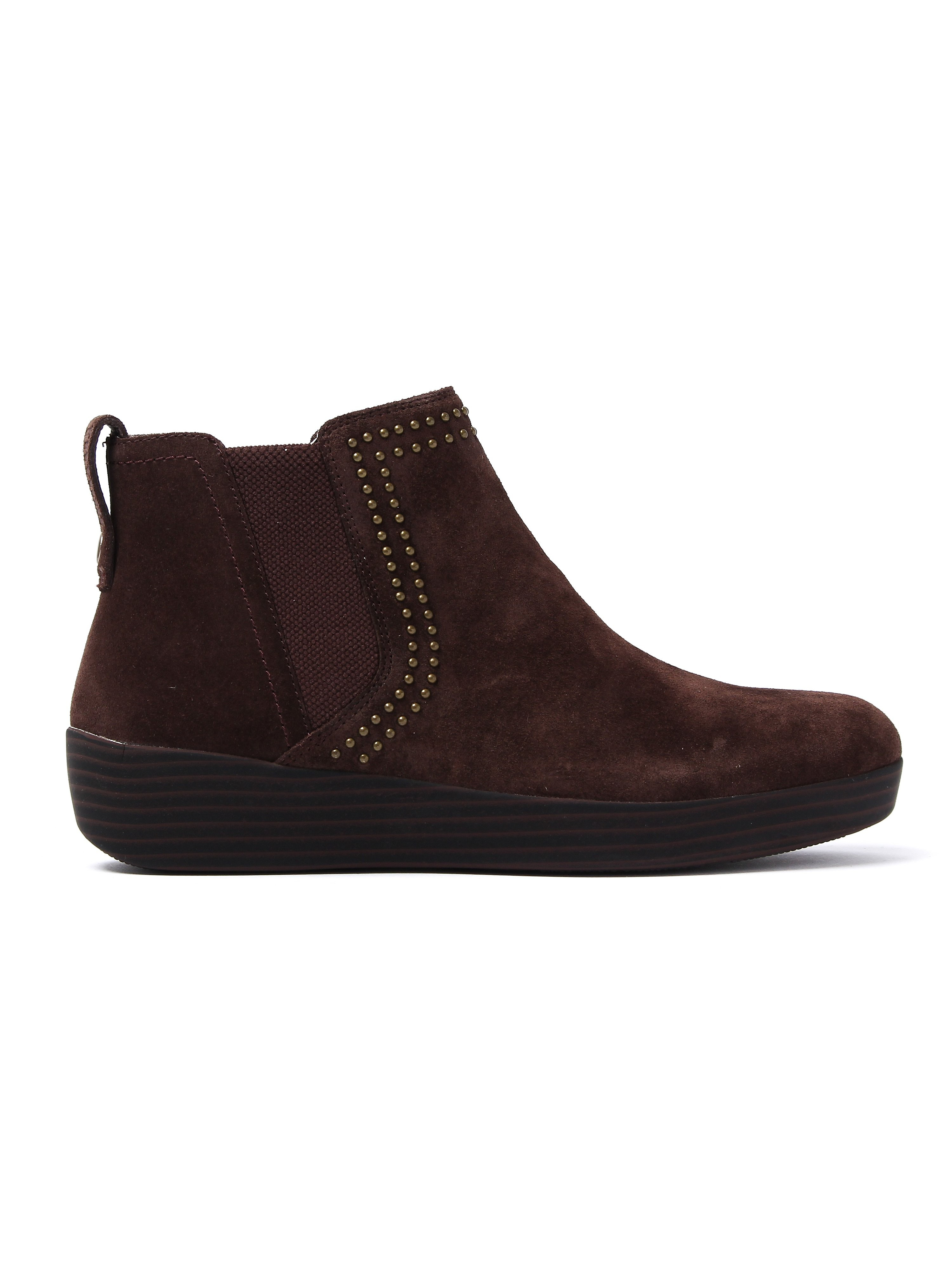 FitFlop Women's Superchelsea Studs Boots - Chocolate Suede