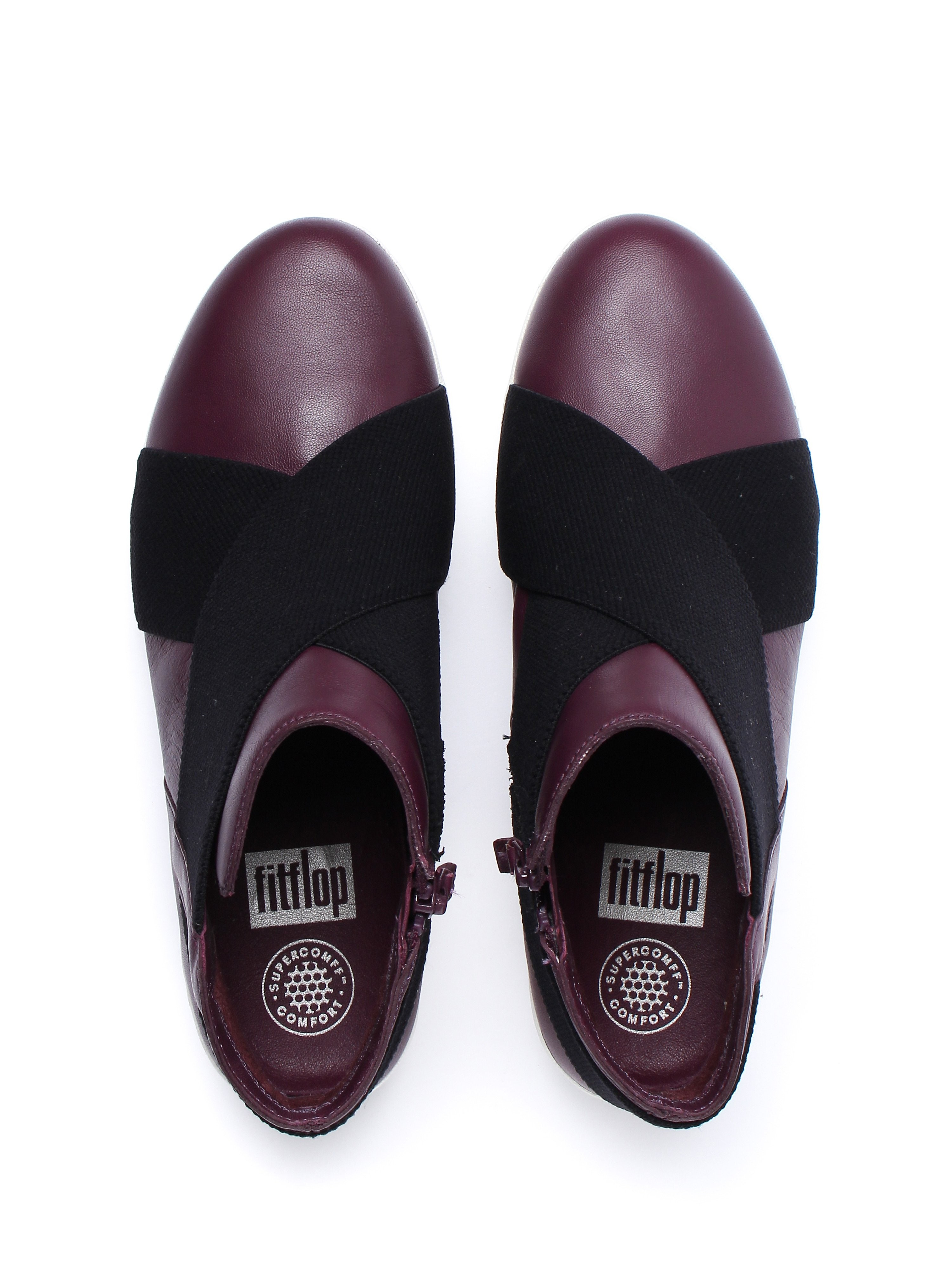 FitFlop Women's Superflex Ankle Boots - Deep Plum Leather