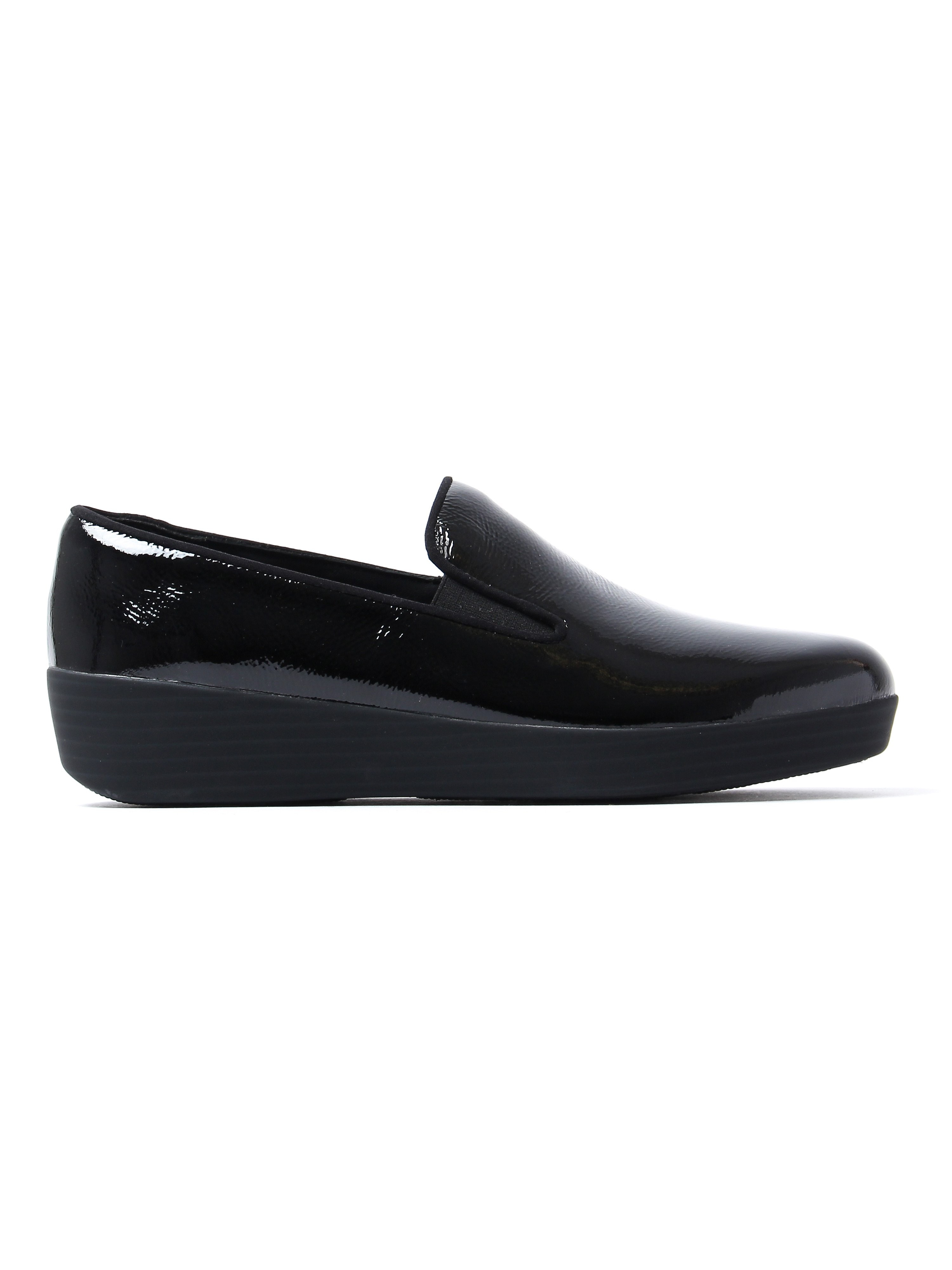 FitFlop Women's Superskate Loafers - Black Patent