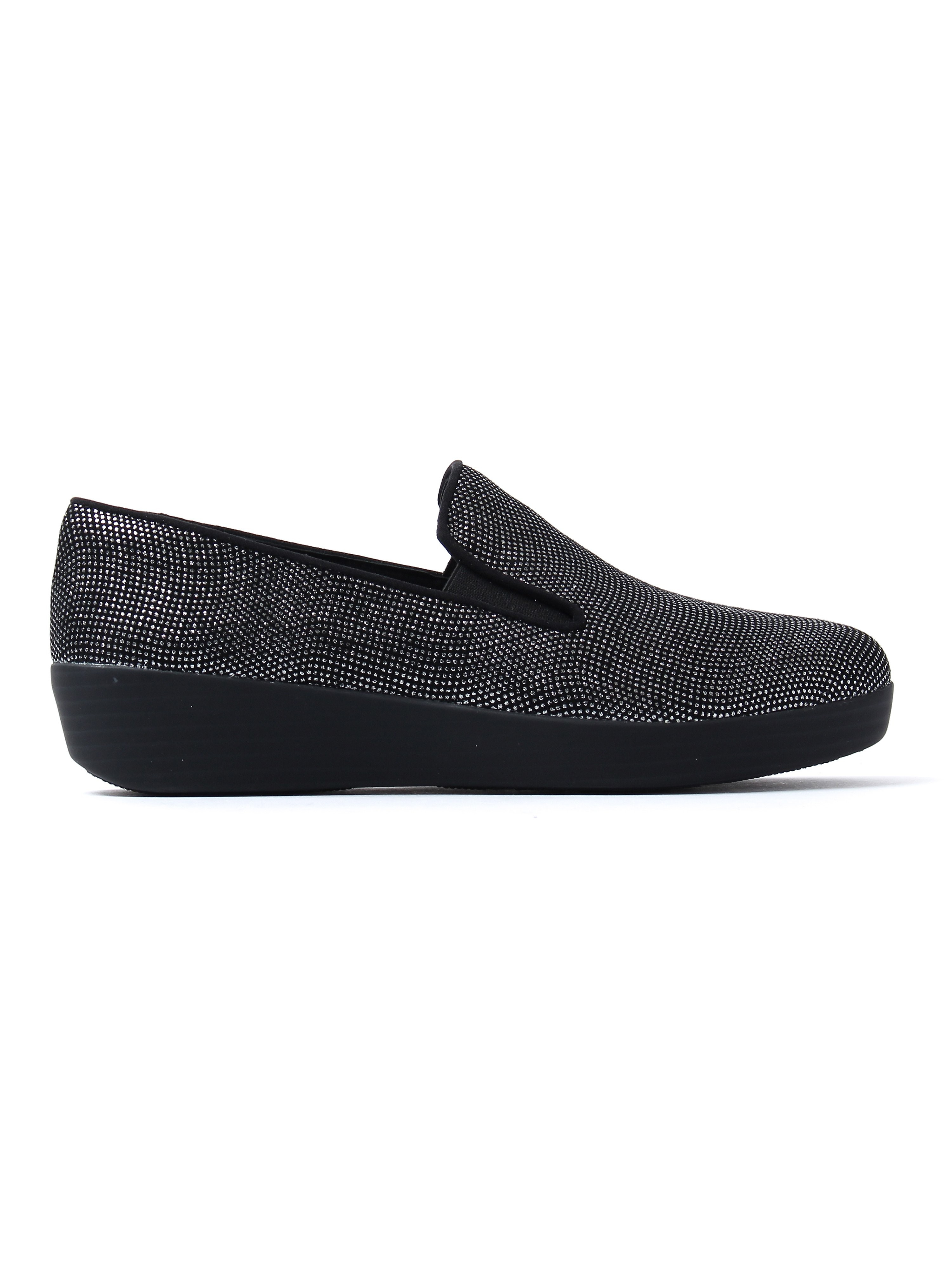 FitFlop Women's Superskate Glimmer Loafers - Black