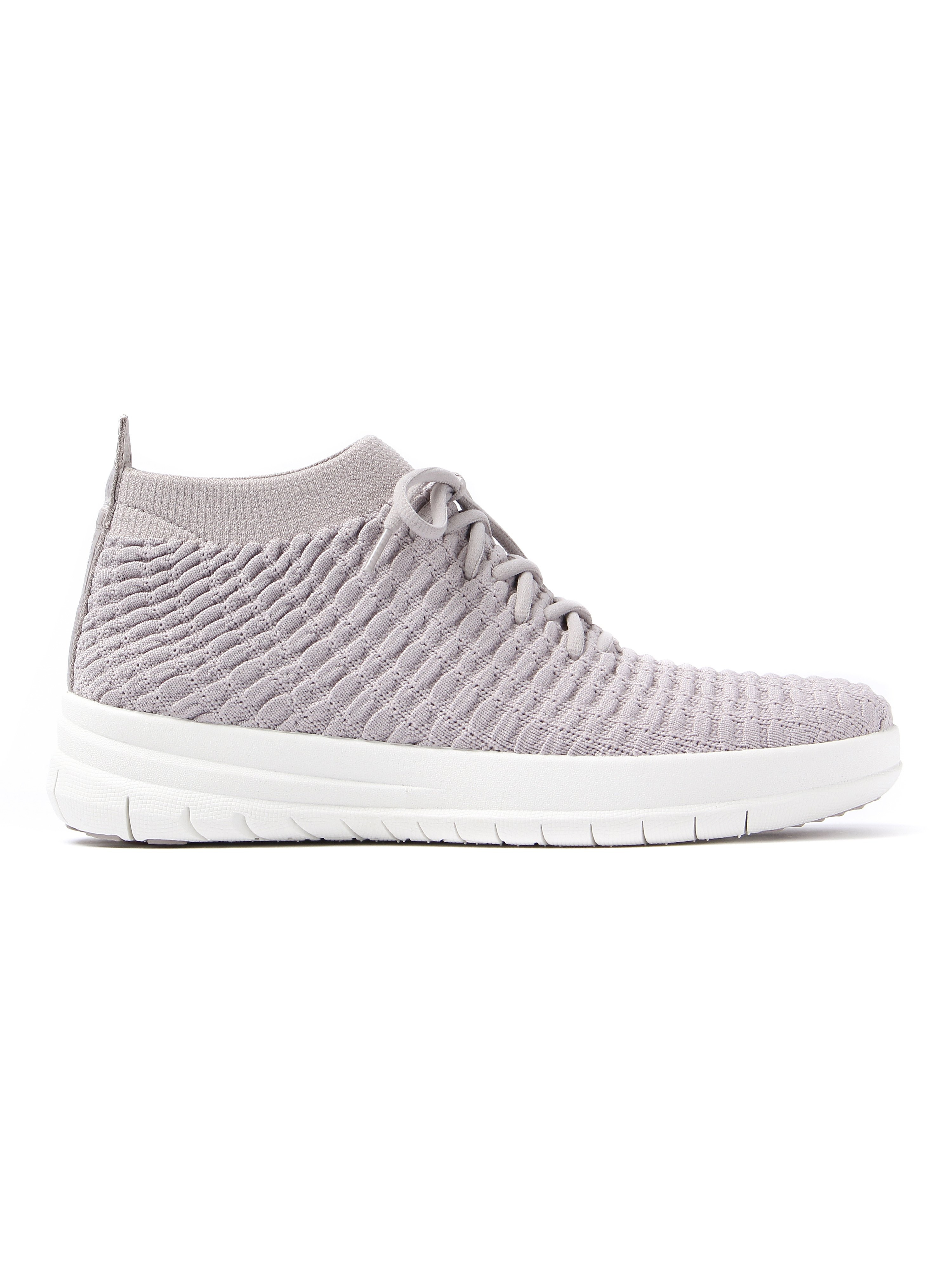FitFlop Women's Uberknit Waffle High Top Trainers - Stone