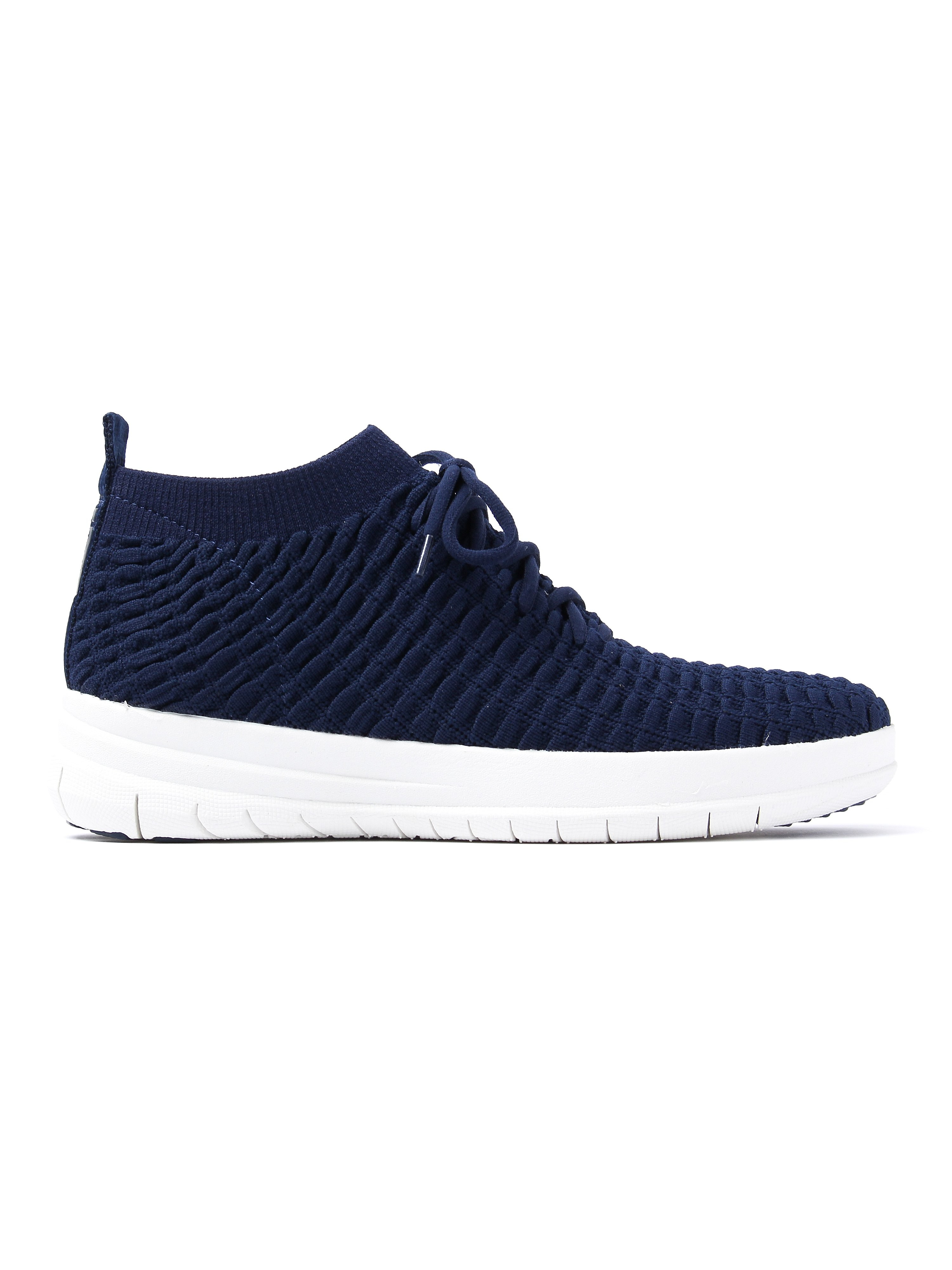 FitFlop Women's Uberknit Waffle High Top Trainers - Midnight Navy