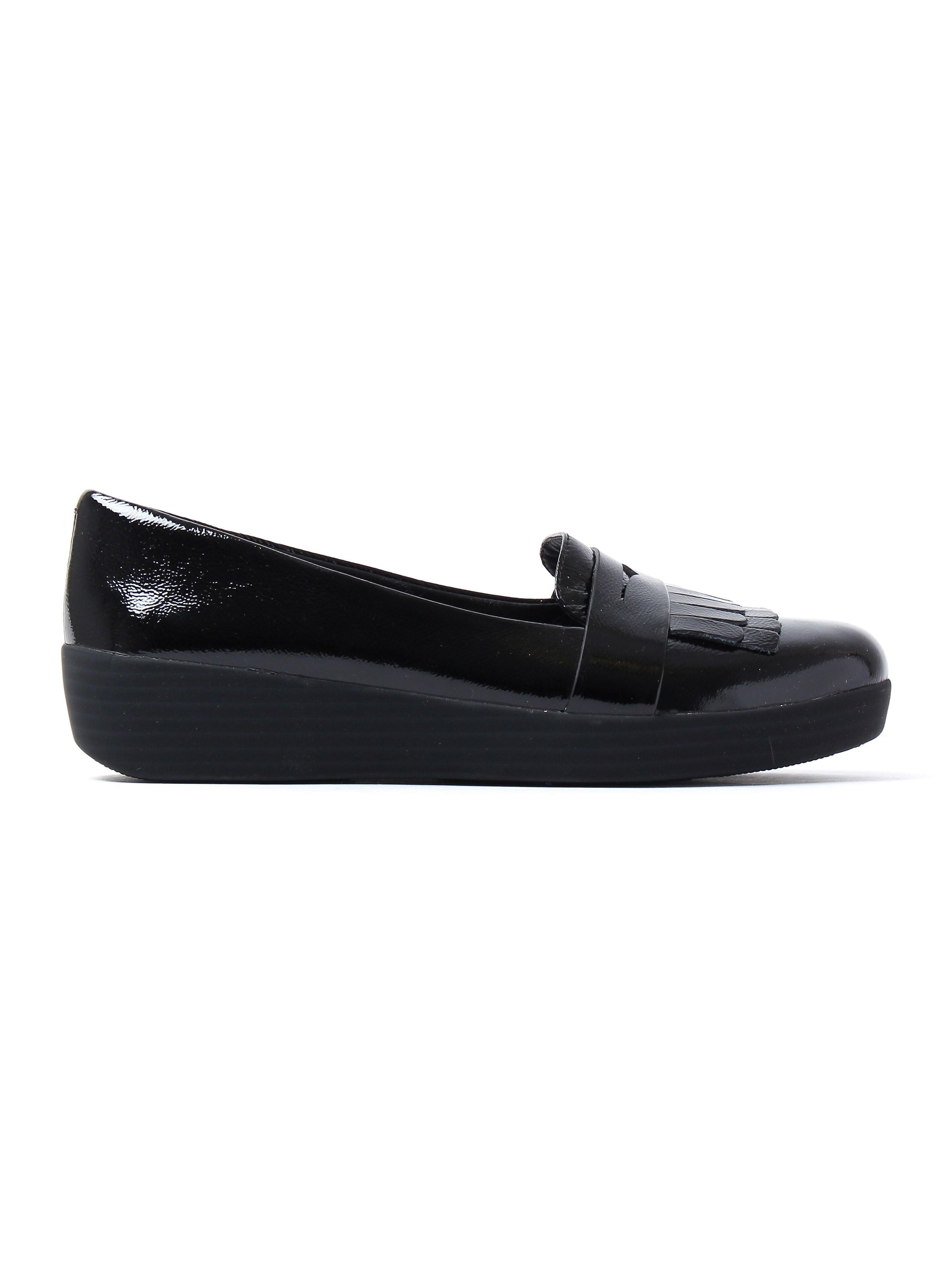 FitFlop Women's Fringey Sneaker Loafers - Black Patent