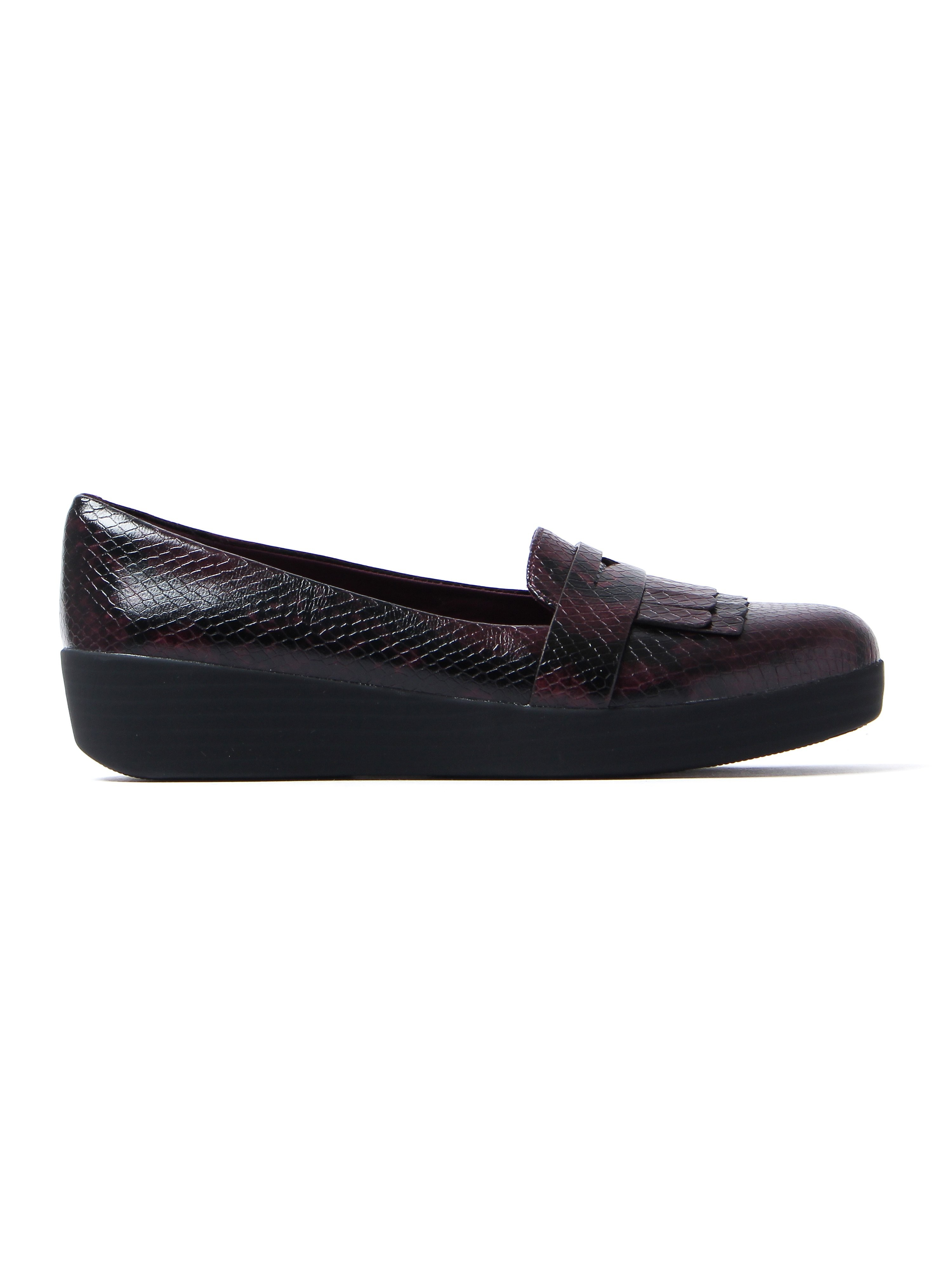 FitFlop Women's Fringey Sneaker Loafers - Deep Plum Leather