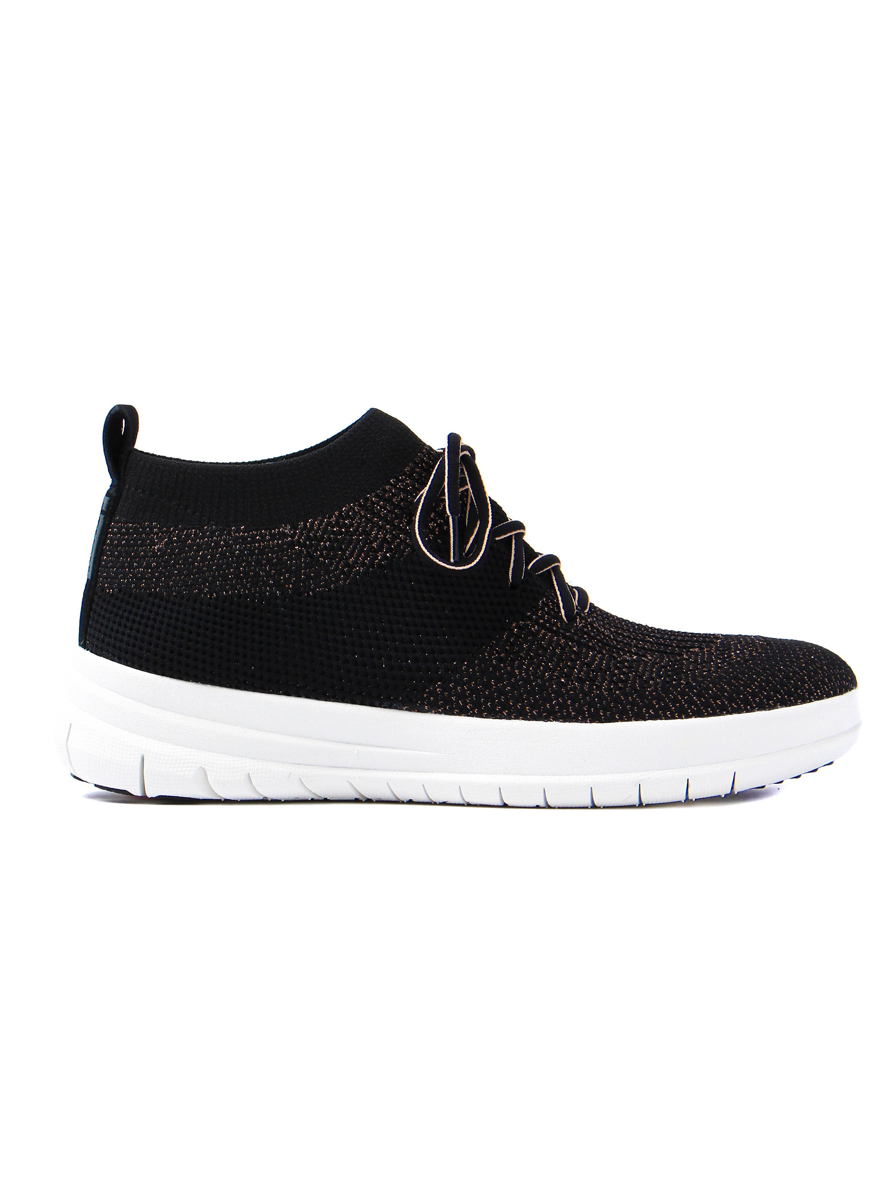 FitFlop Women's Uberknit Metallic Fleck High Top Trainers - Black