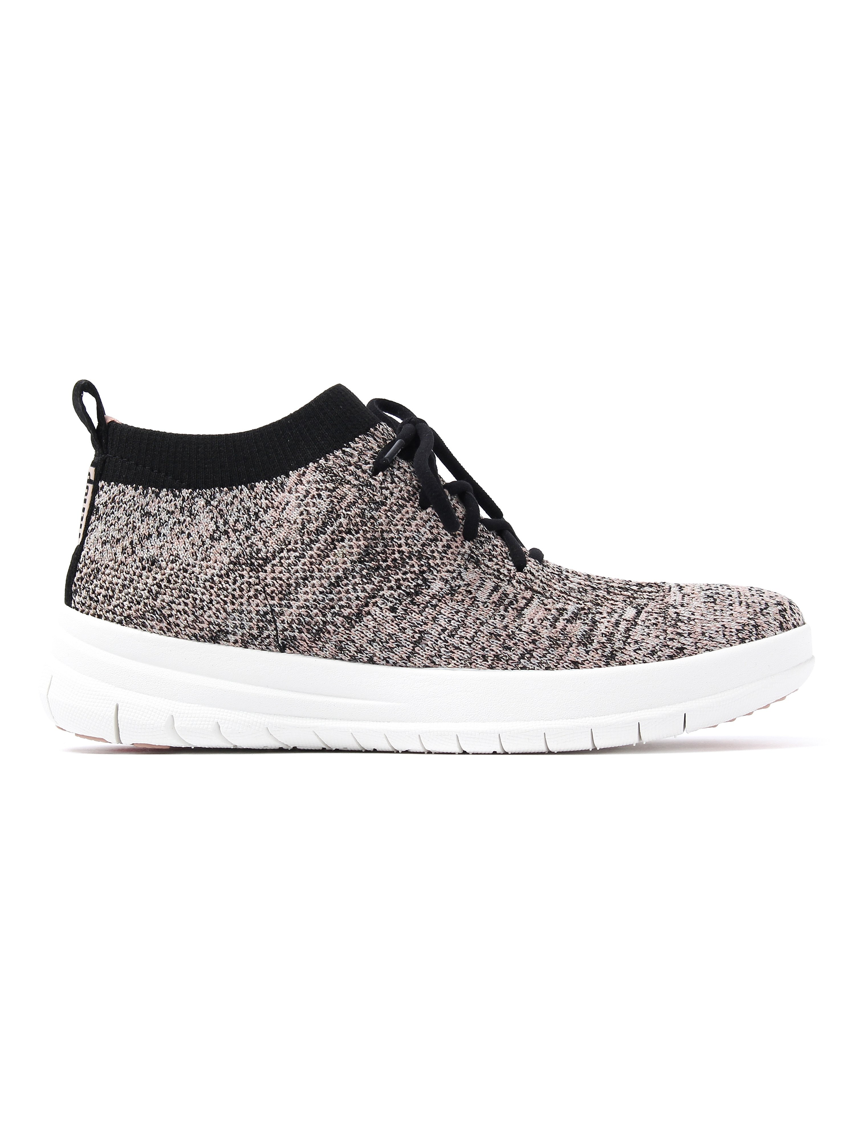FitFlop Women's Uberknit Metallic Fleck High Top Trainers - Black & Nude