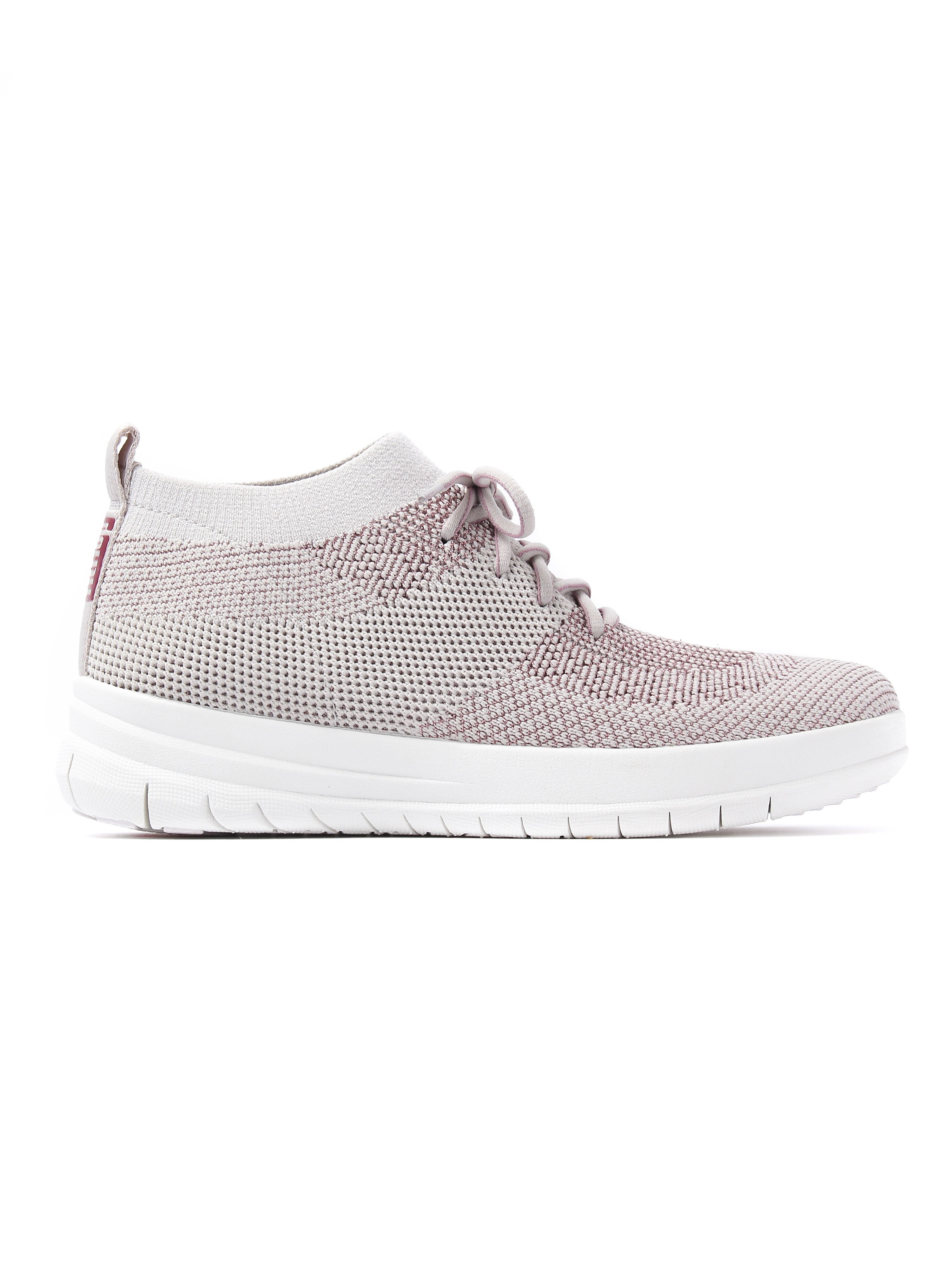 FitFlop Women's Uberknit Metallic Fleck High Top Trainers - Stone & Rose Gold