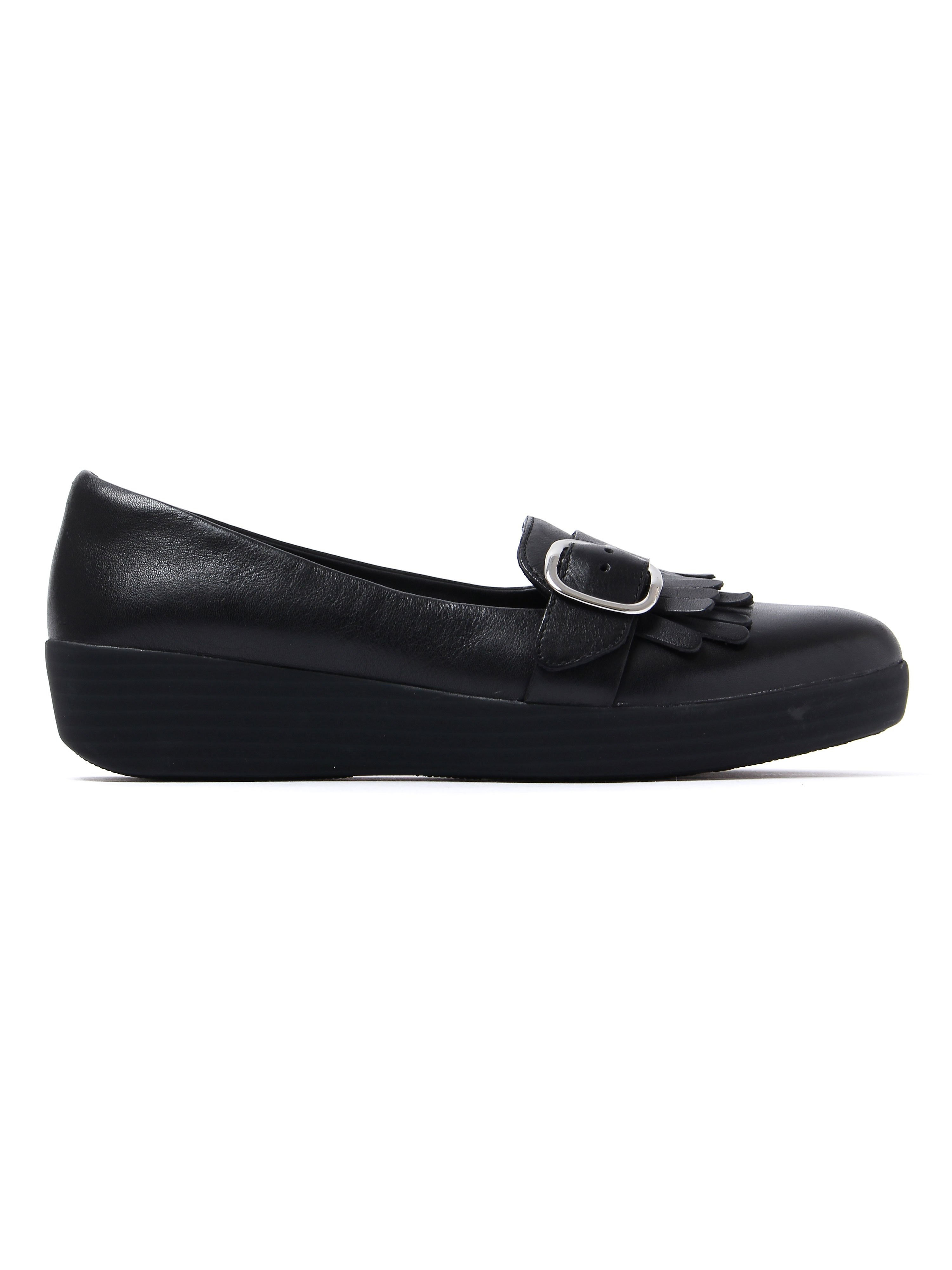 FitFlop Women's Buckle Sneakerloafers - Black Leather